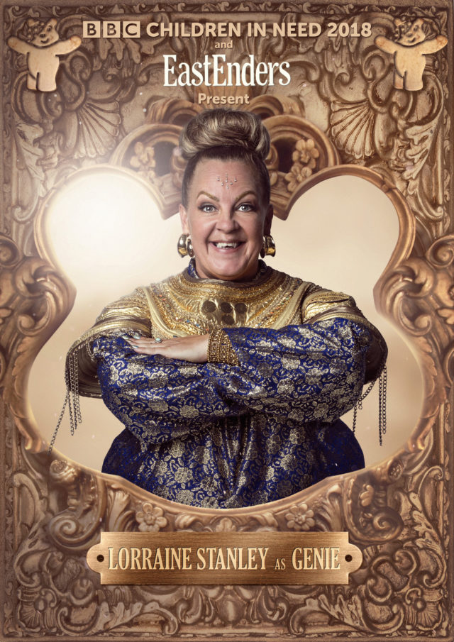 Lorraine Stanley as the Genie (Nicky Johnson/BBC)