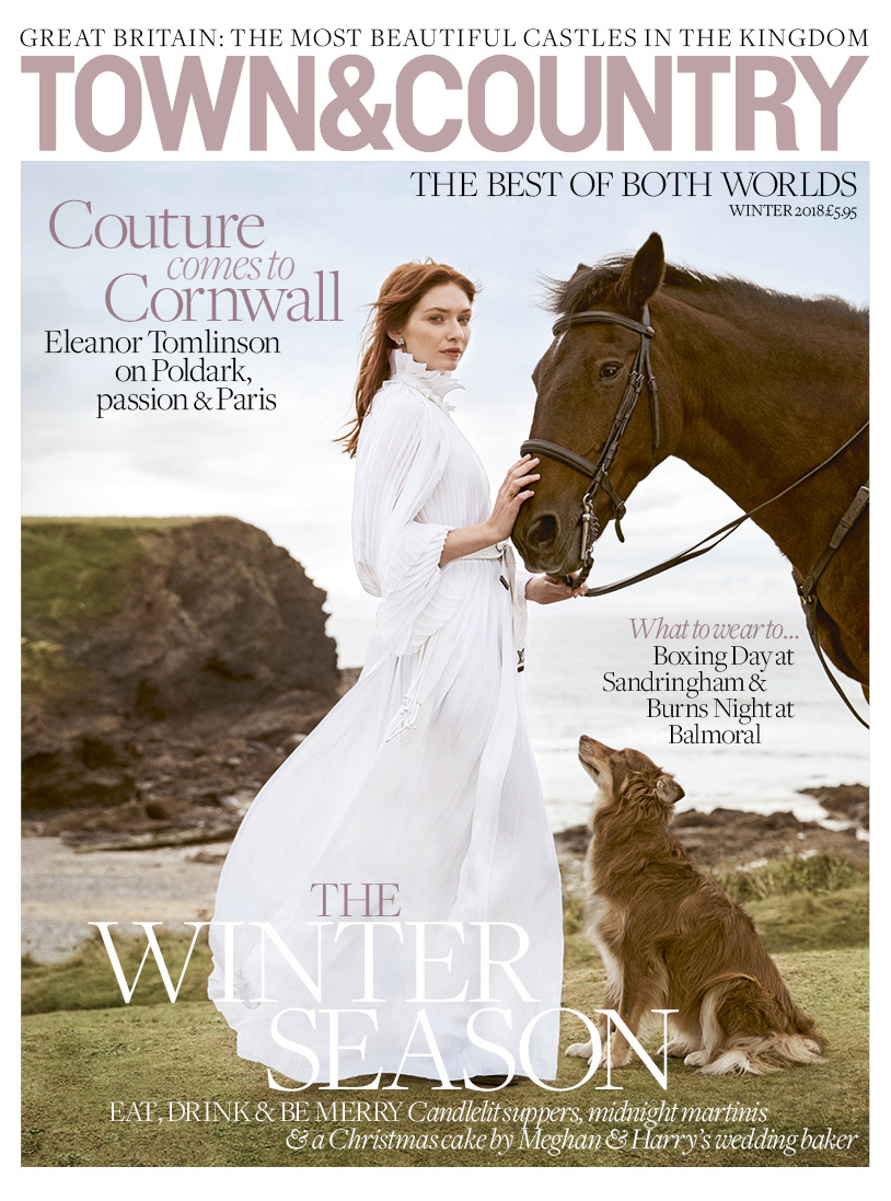 Eleanor Tomlinson on Town & Country