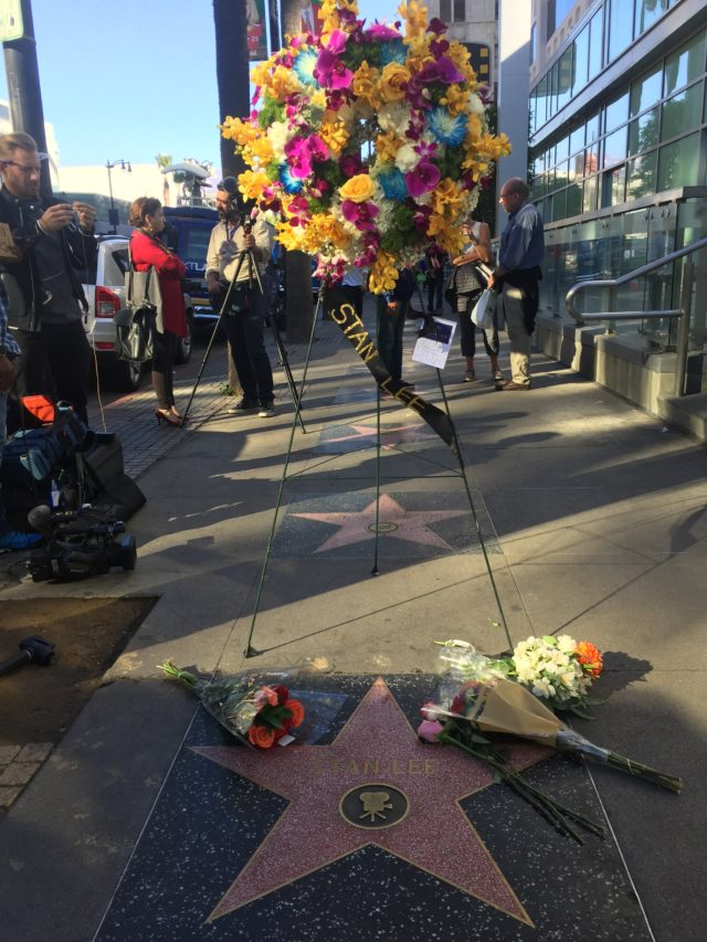 Stan Lee Walk of Fame star