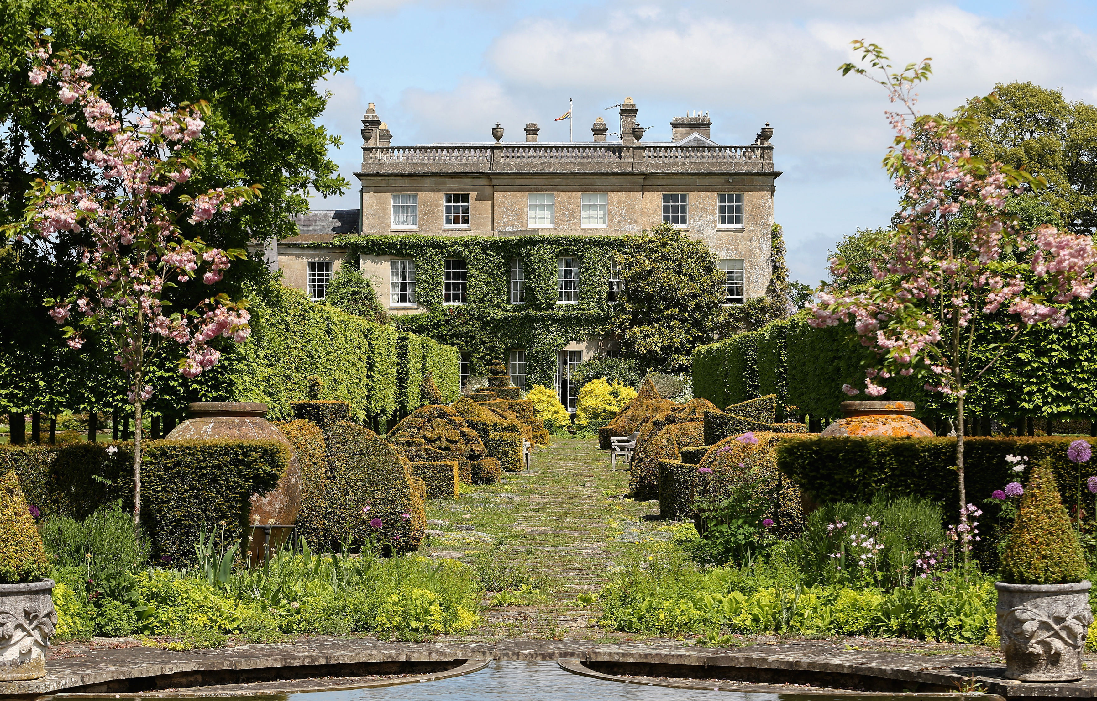 The gardens at Prince Charles' beloved Highgrove House