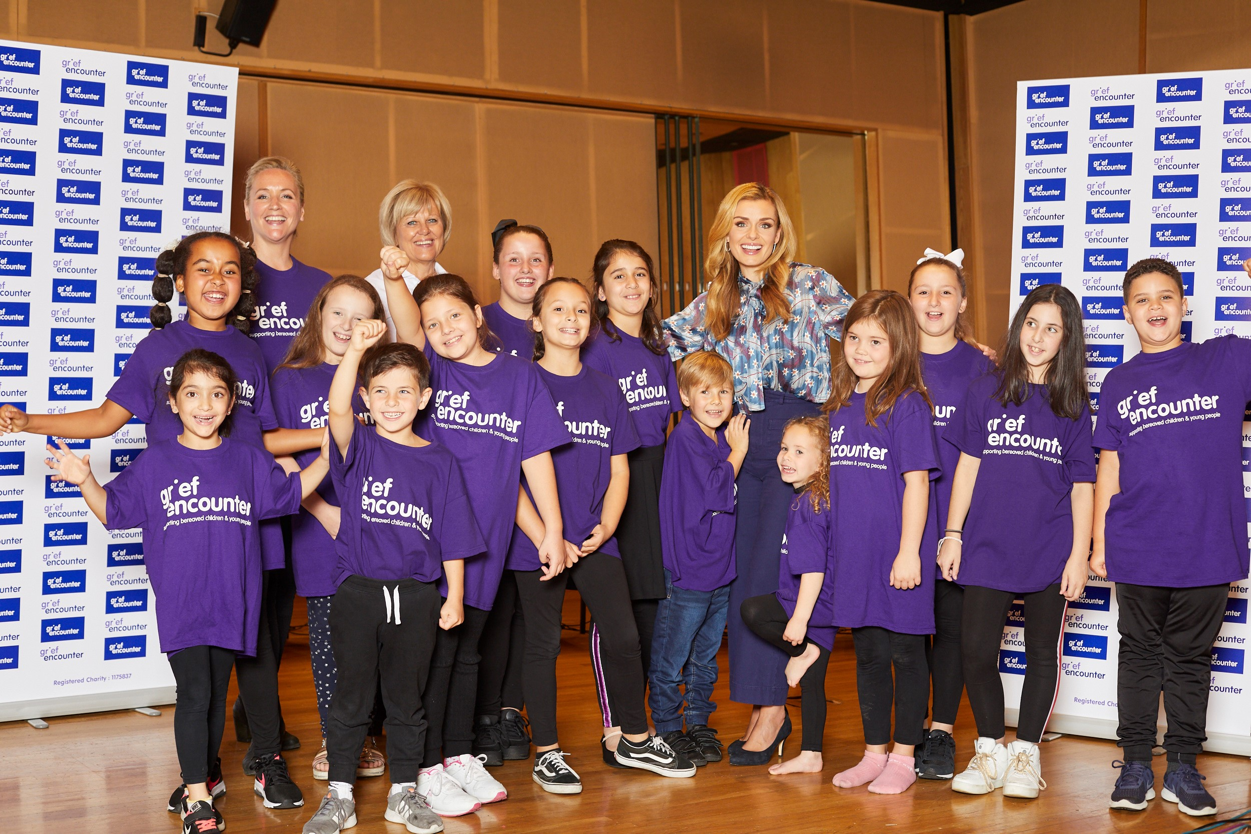 Katherine Jenkins with the Grief Encounter Children's Choir