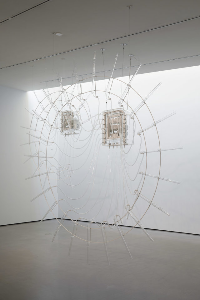Cerith Wyn Evans's installation, Composition for 37 flutes (in two parts), at the Hepworth Wakefield gallery