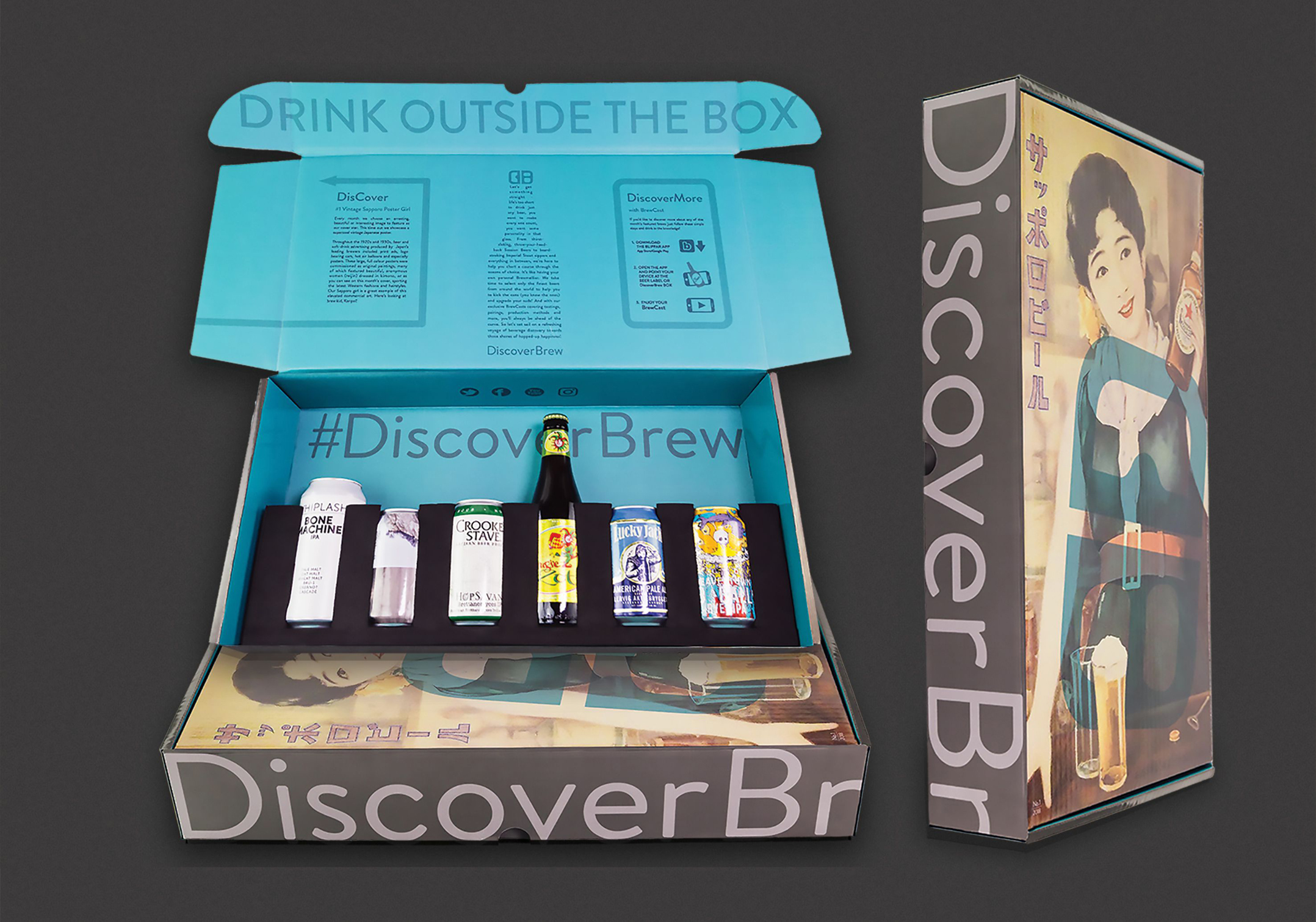 Discover Brew selection of beers, monthly subscription