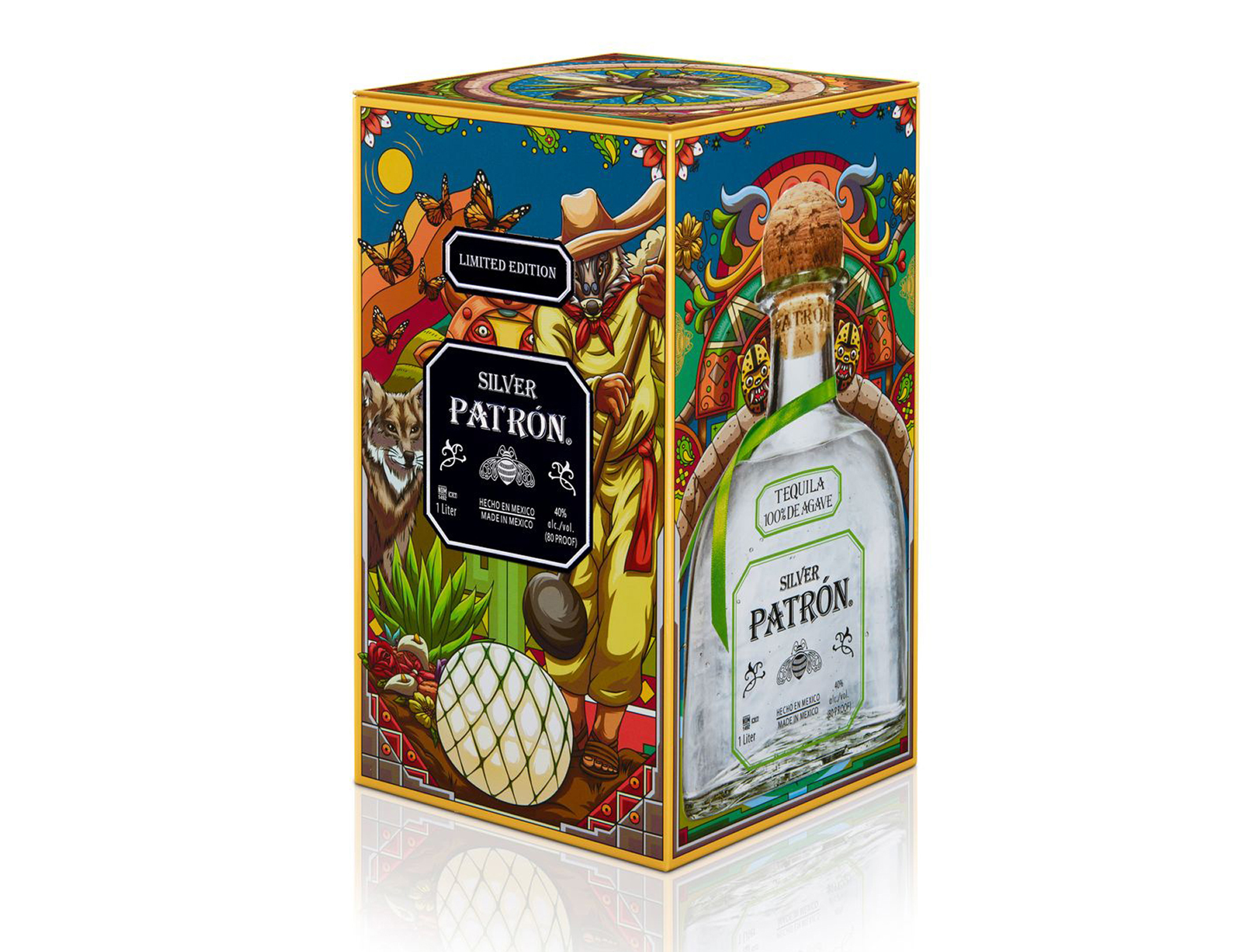 Patron Silver Tequila Heritage Tin