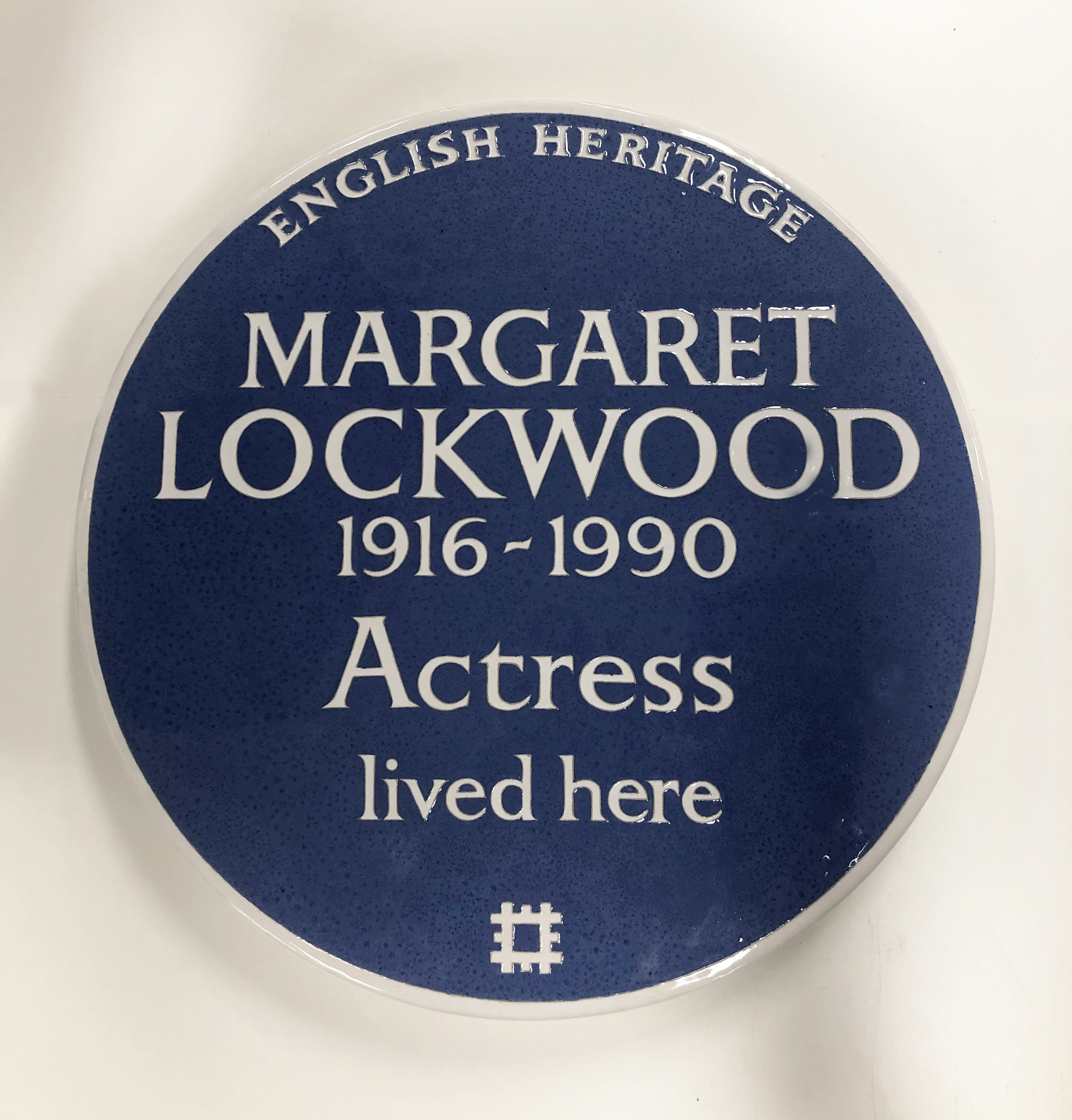 The plaque to Margaret Lockwood