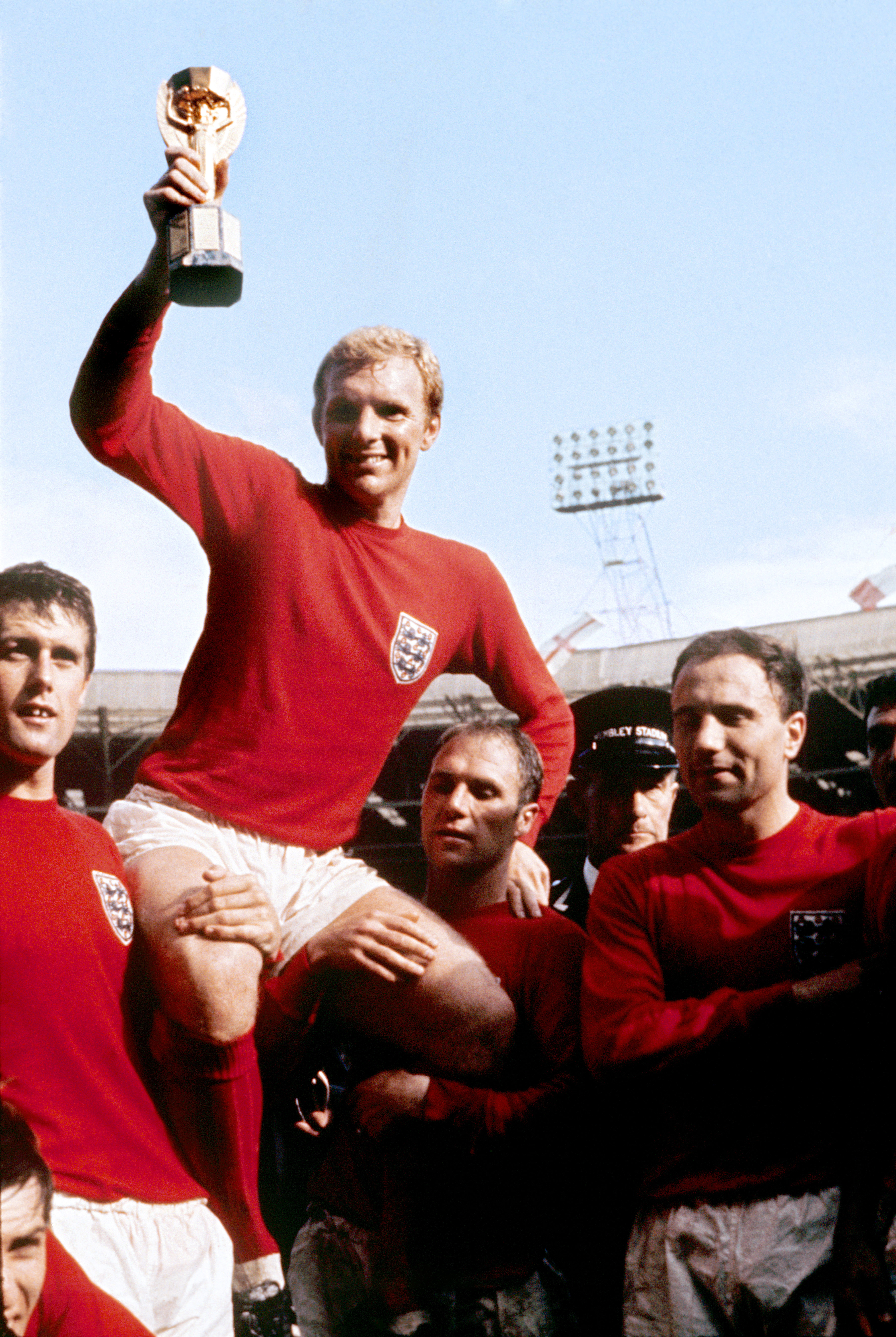 Bobby Moore with the world cup trophy