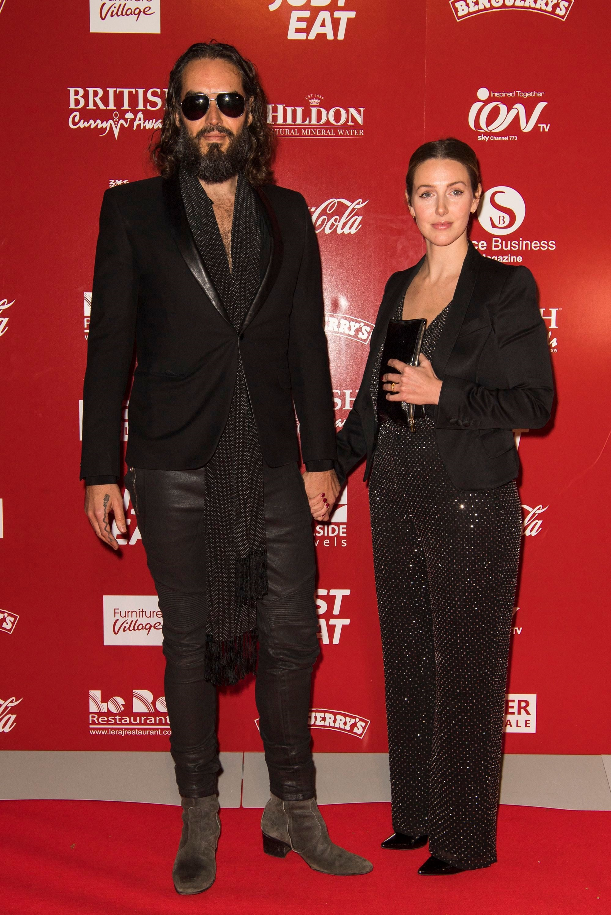 Russell Brand and Laura Gallacher