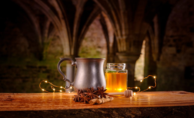 Mead is made from fermenting honey with water and sometimes fruits and spices (English Heritage/PA)