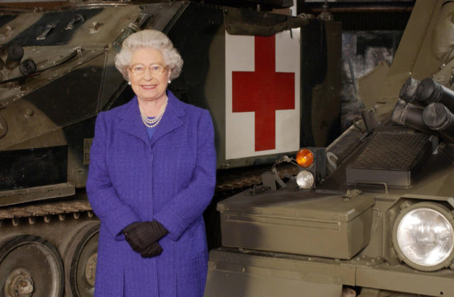 The Queen at Army Barracks