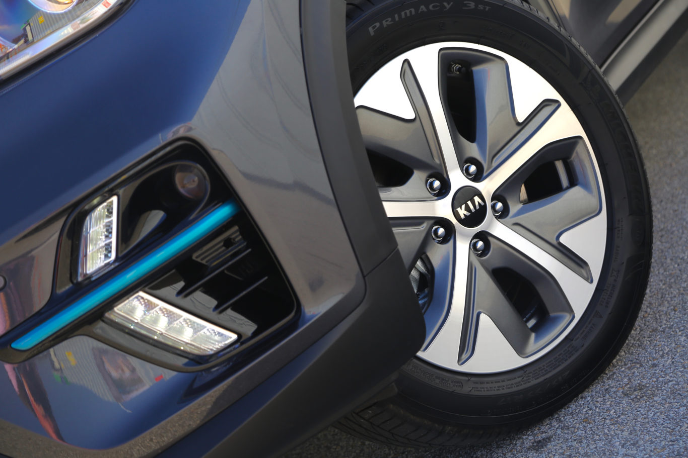 Stylish alloy wheels give the e-Niro a premium look