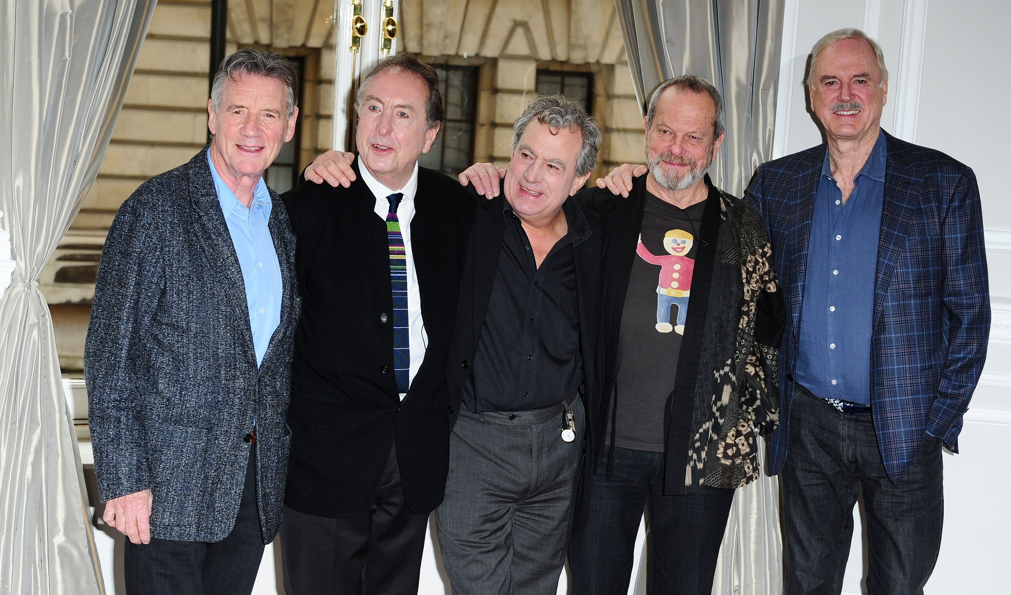 (Left-right) Michael Palin, Eric Idle, Terry Jones, Terry Gilliam and John Cleese in 2013 (Ian West/PA)