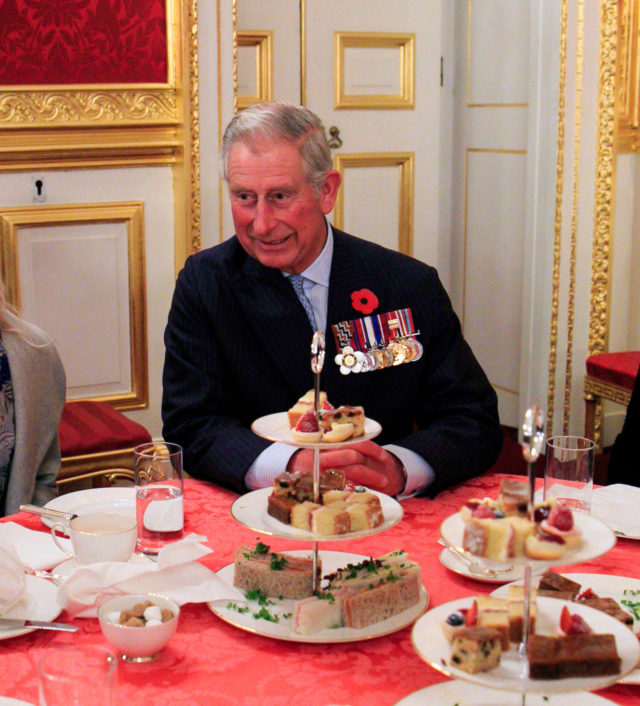 The Prince of Wales at an afternoon tea