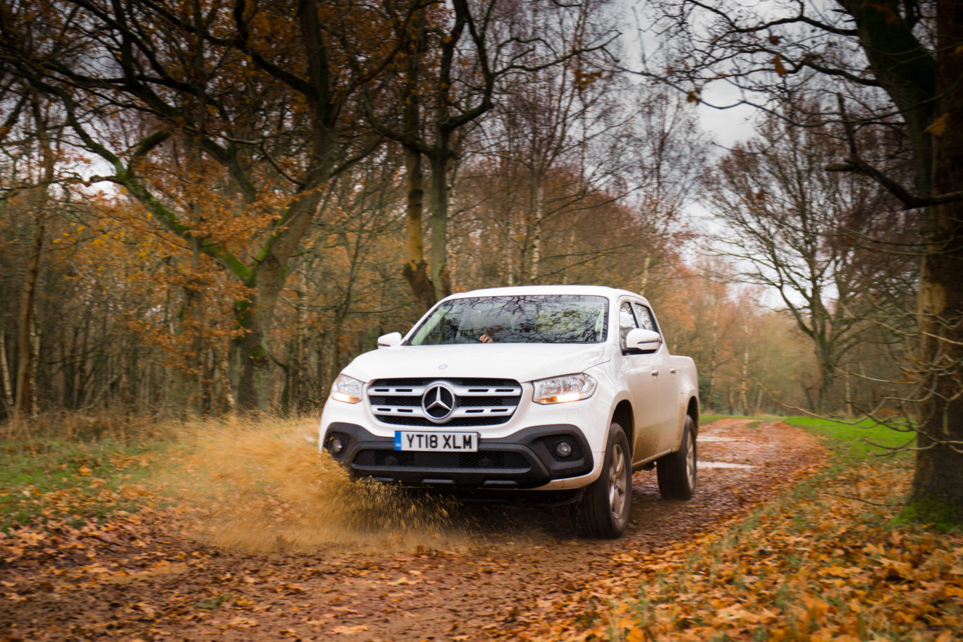Plenty of ground clearance makes the X-Class formidable off-road