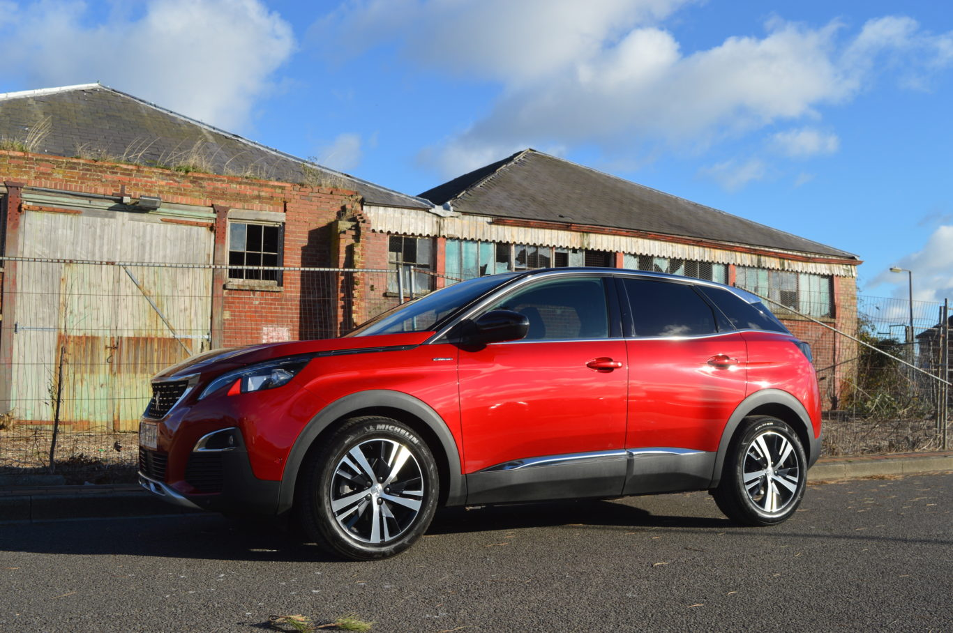 The Peugeot benefits from large diamond-cut alloy wheels