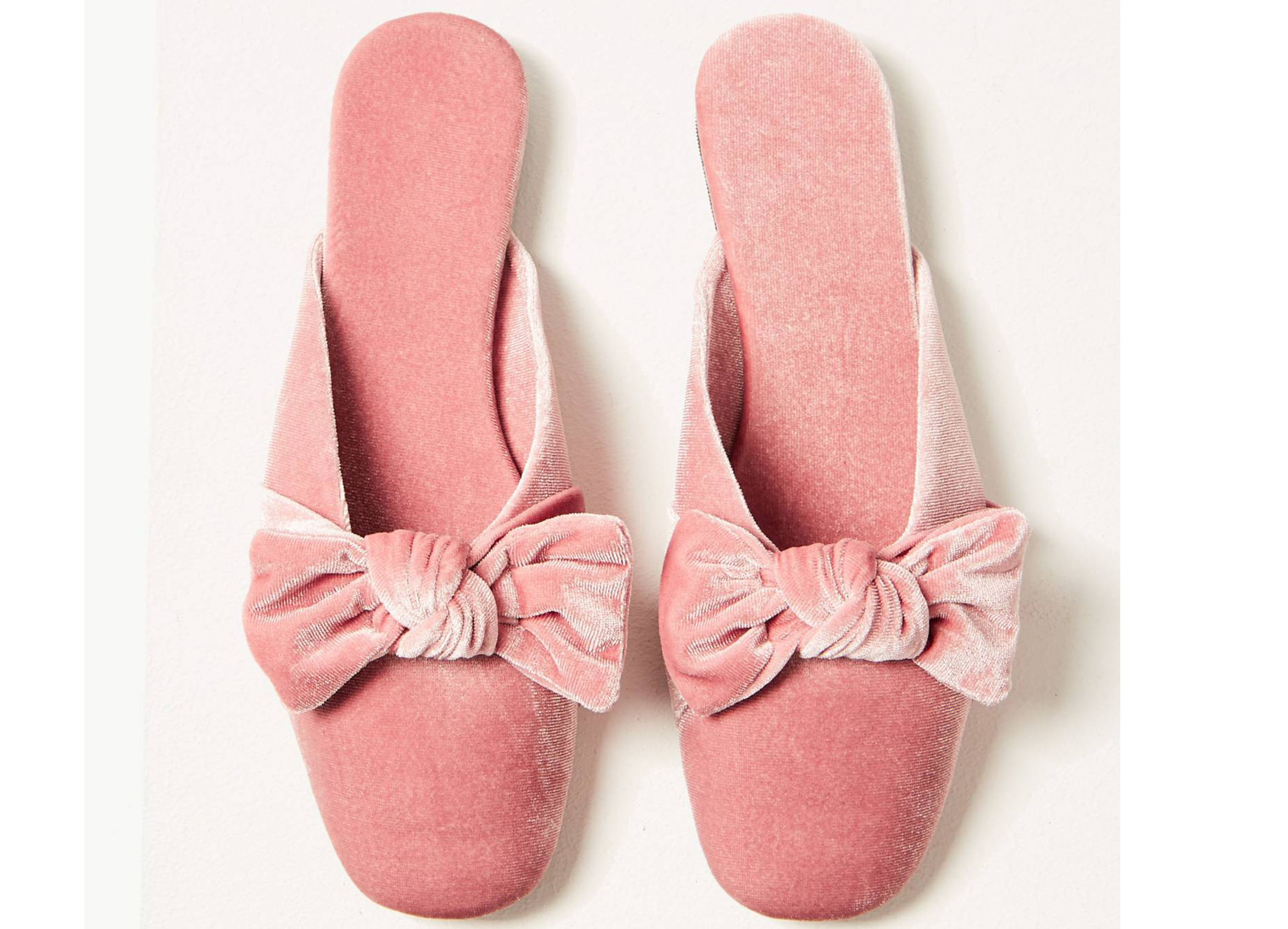 Marks and Spencer Collection Soft Bow Mule Slippers