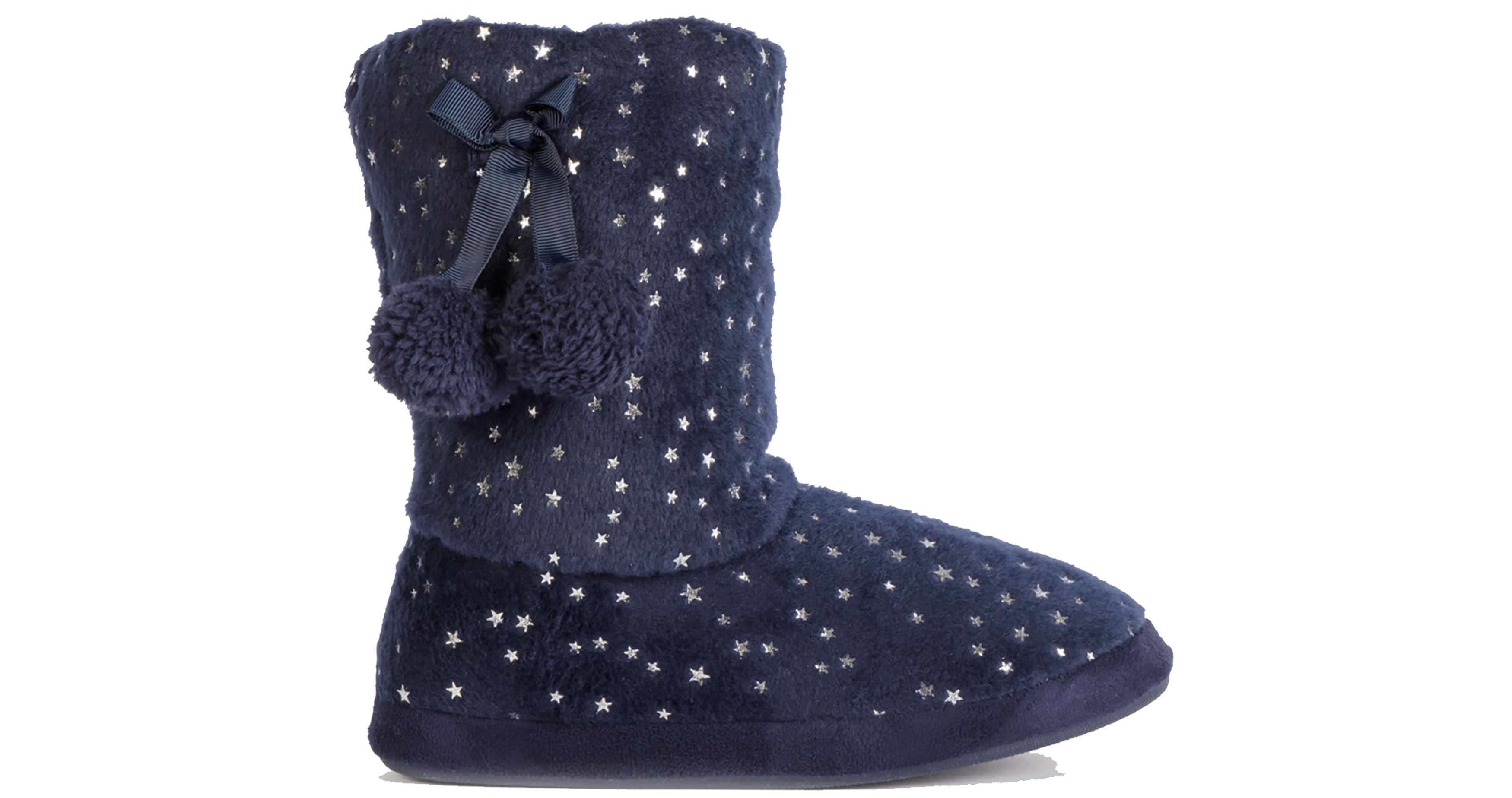 Tu at Sainsburys Navy Star Print Slipper Boots