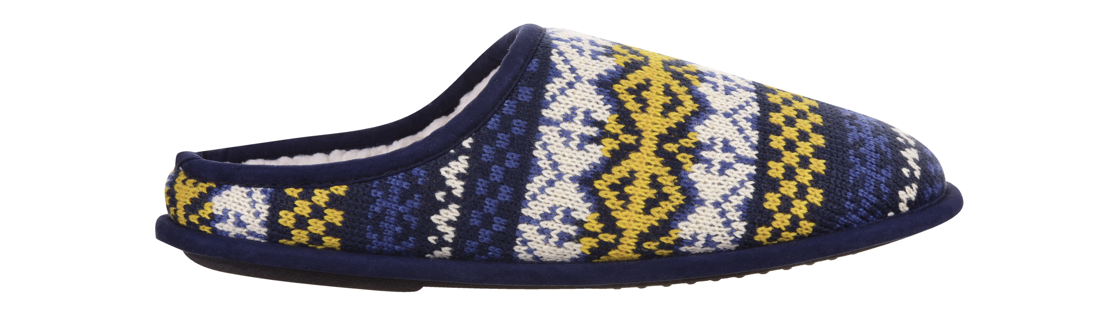 Burton Blue Fair Isle Slippers
