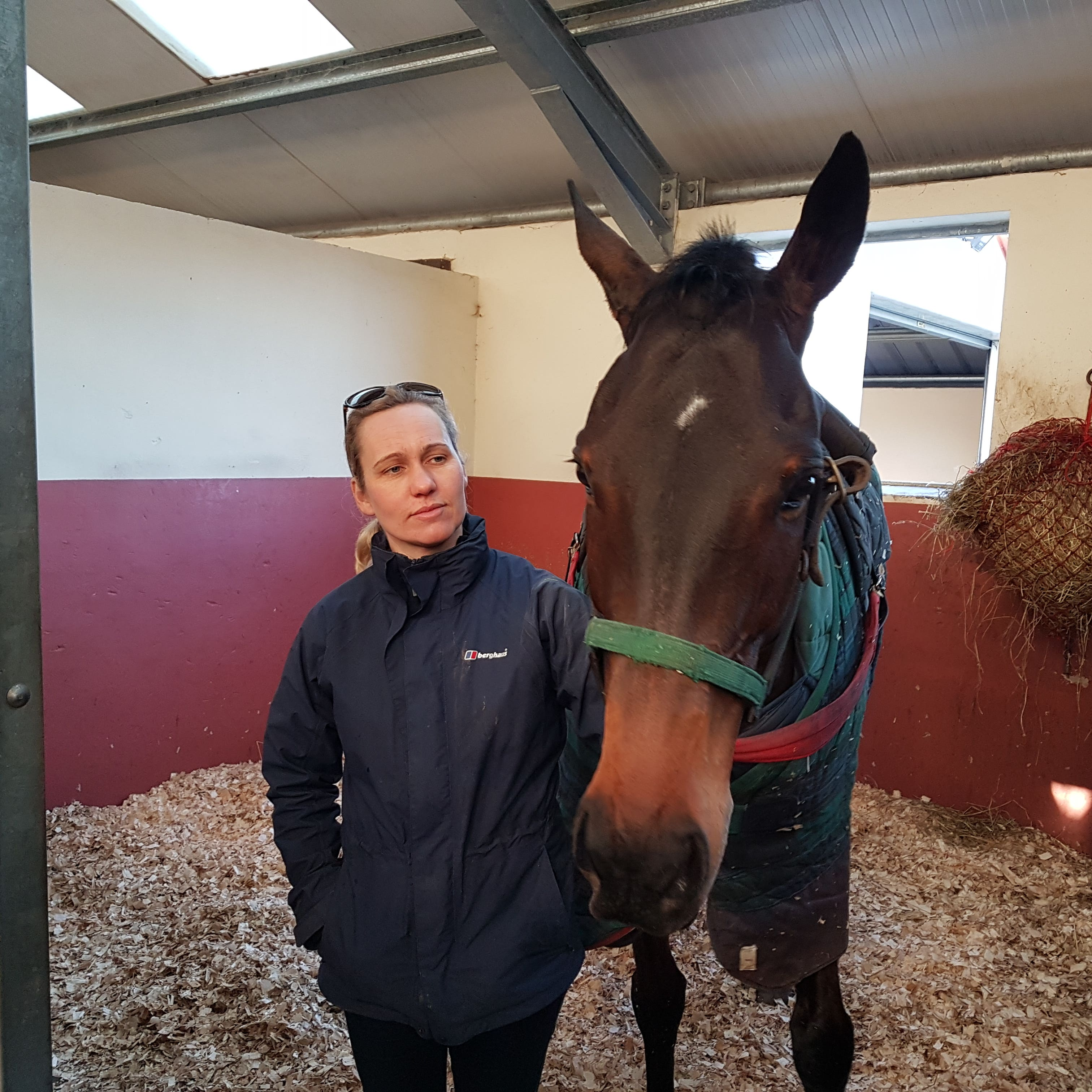 Ruth Jefferson stands with stable star Waiting Patiently