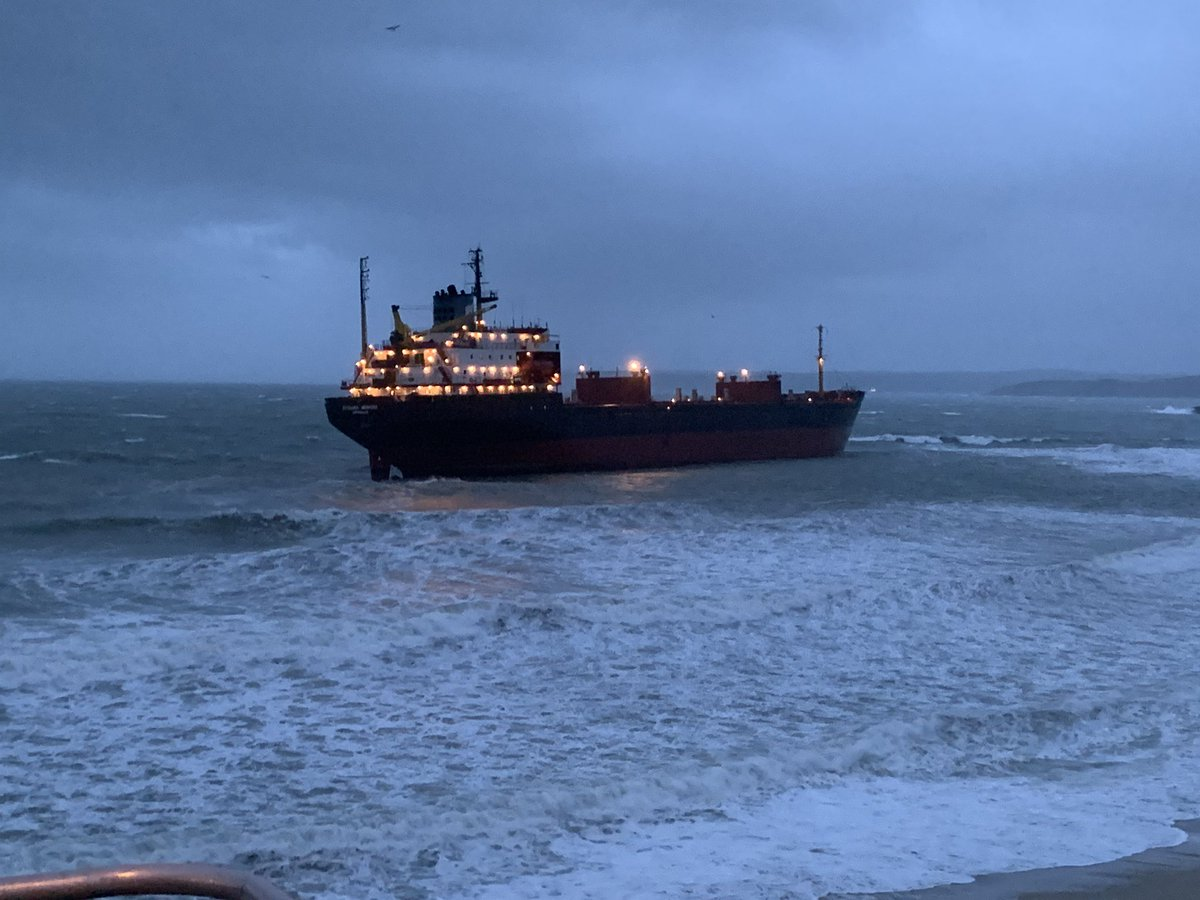 "The vessel ran aground in ""extreme"" and ""horrific"" weather (Nigel Kitto/PA)"