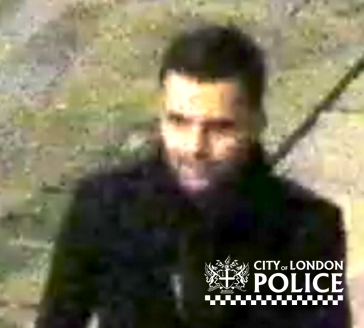 CCTV still of the suspect City of Police wish to speak to regarding the rape of a woman near Bank. (City of London Police).