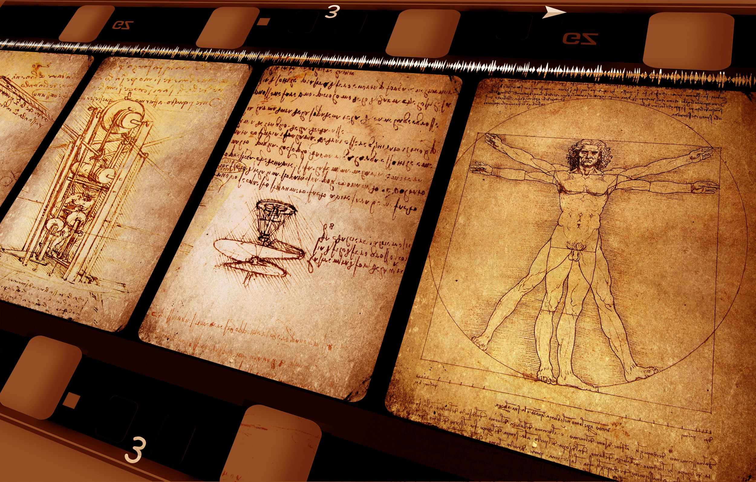 Drawings featuring Leonardo Da Vinci's Vitruvian Man (Thinkstock/PA)