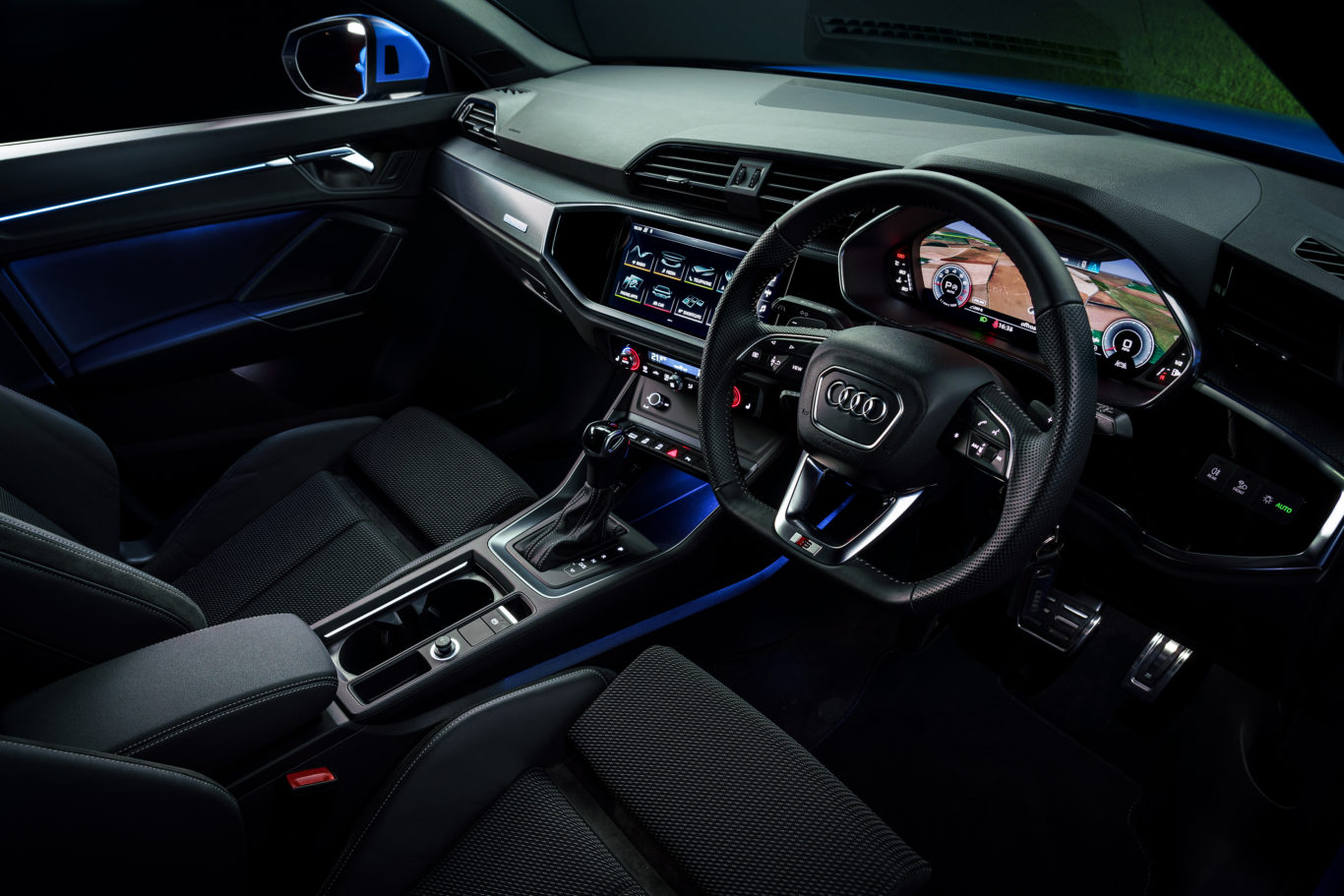 The interior of the Q3 is impressively well-made
