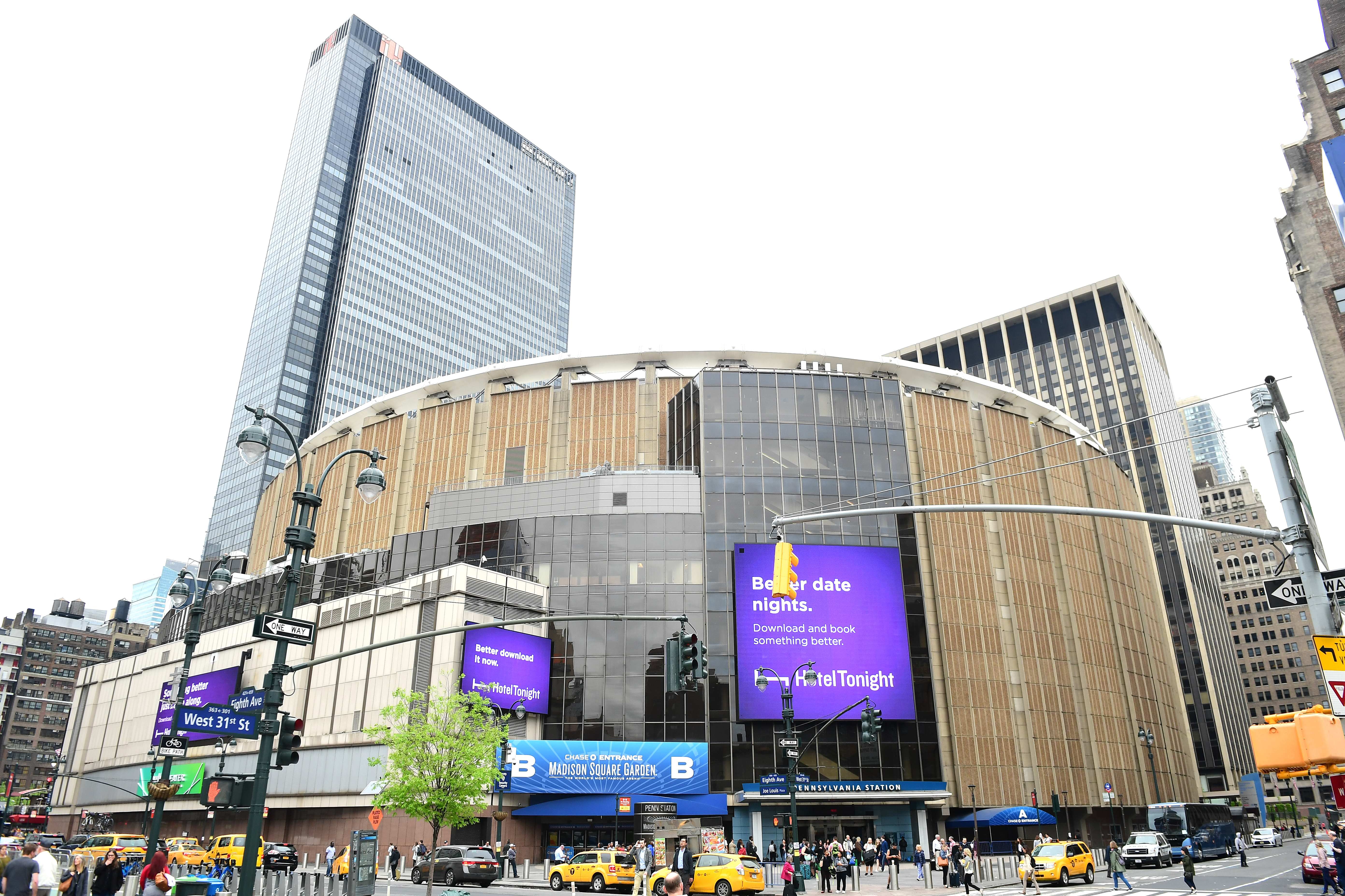 A view of Madison Square Garden in New York.