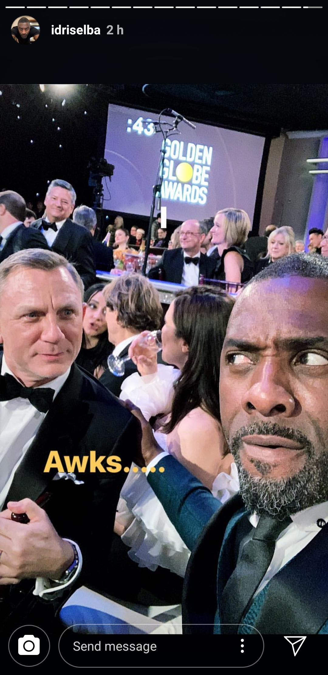 Idris Elba and Daniel Craig