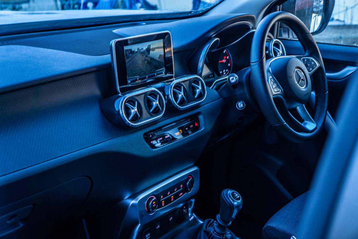 The cabin of the X-Class is more upmarket than rival offerings