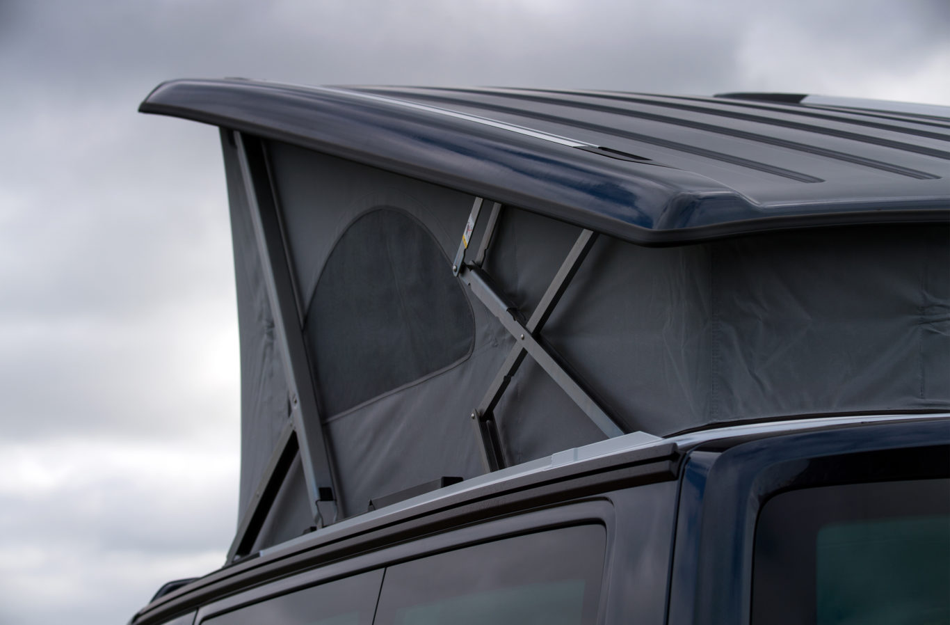 A pop-top roof gives better headroom and additional sleeping areas