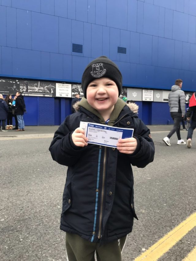 Harrison with his ticket