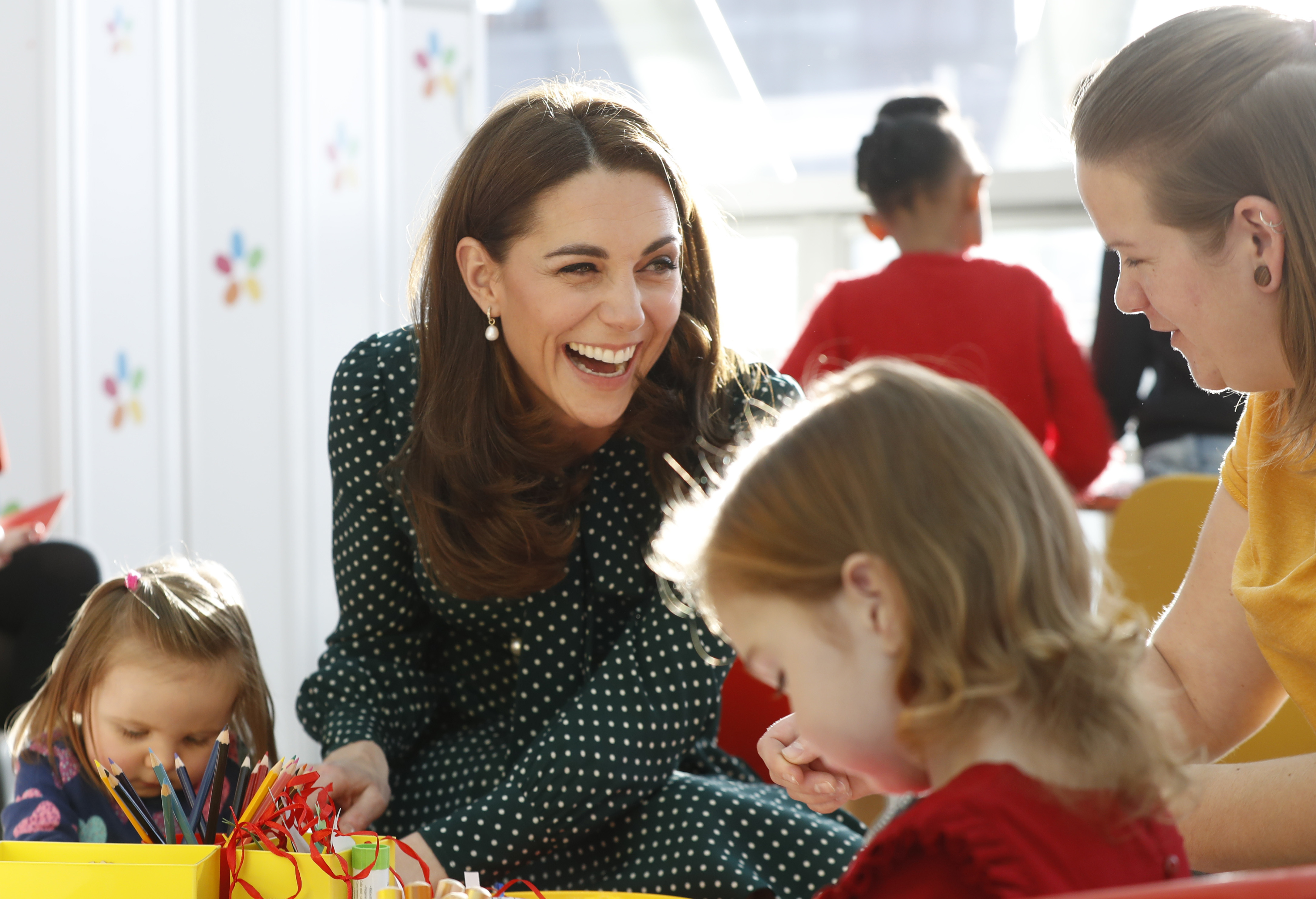 Duchess of Cambridge at a children's hospital