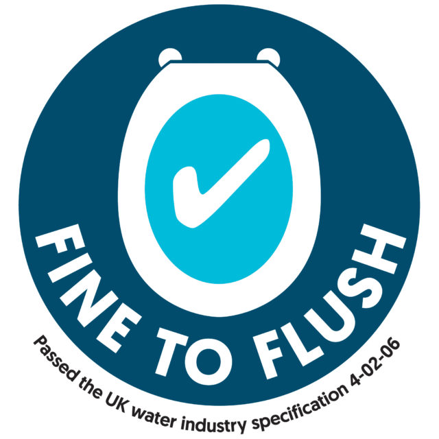 Wipes which pass strict tests will be able to carry the 'fine to flush' logo (Water UK/PA)