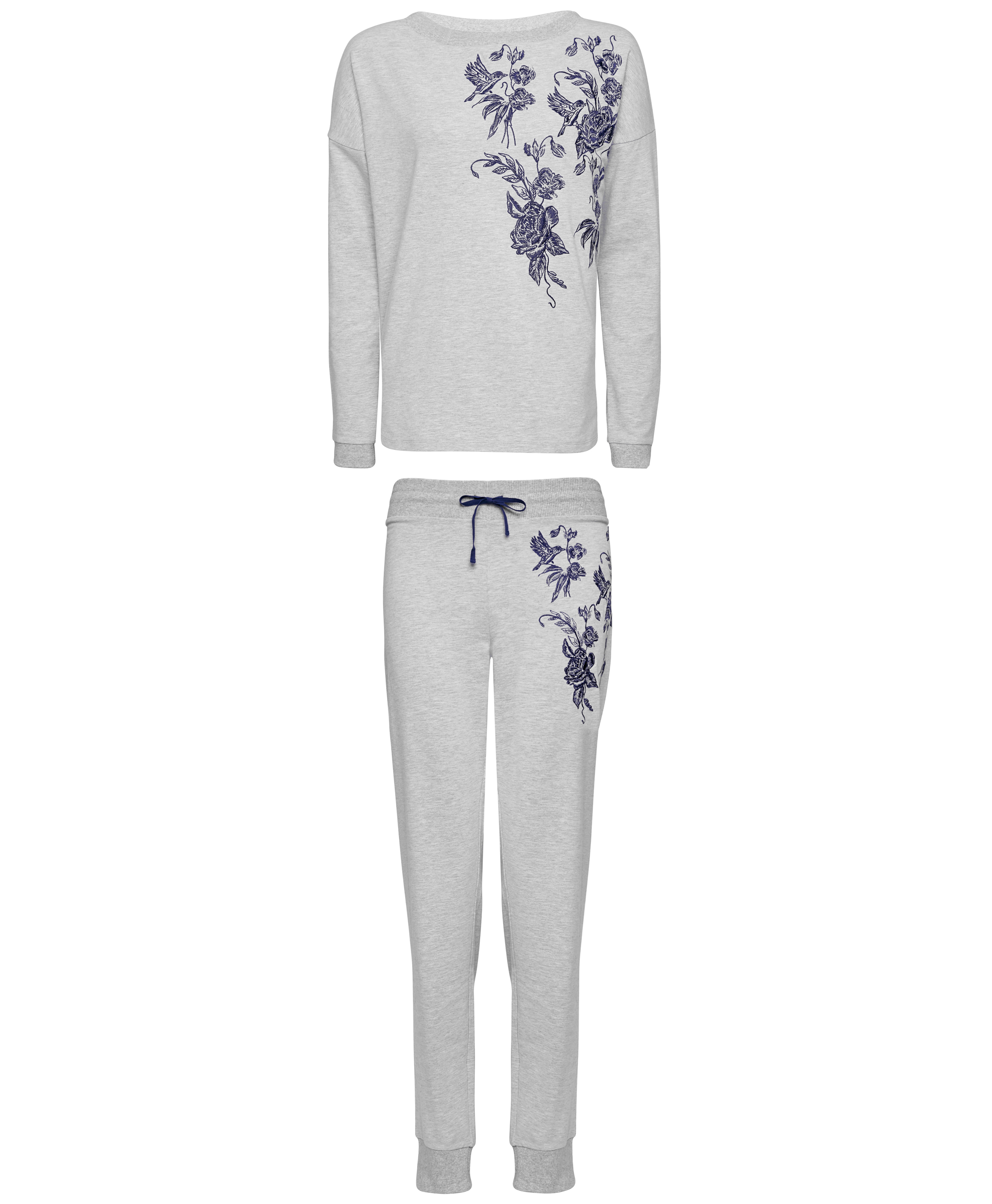 Figleaves Hummingbird Embroidered Sweatshirt; Hummingbird Embroidered Joggers