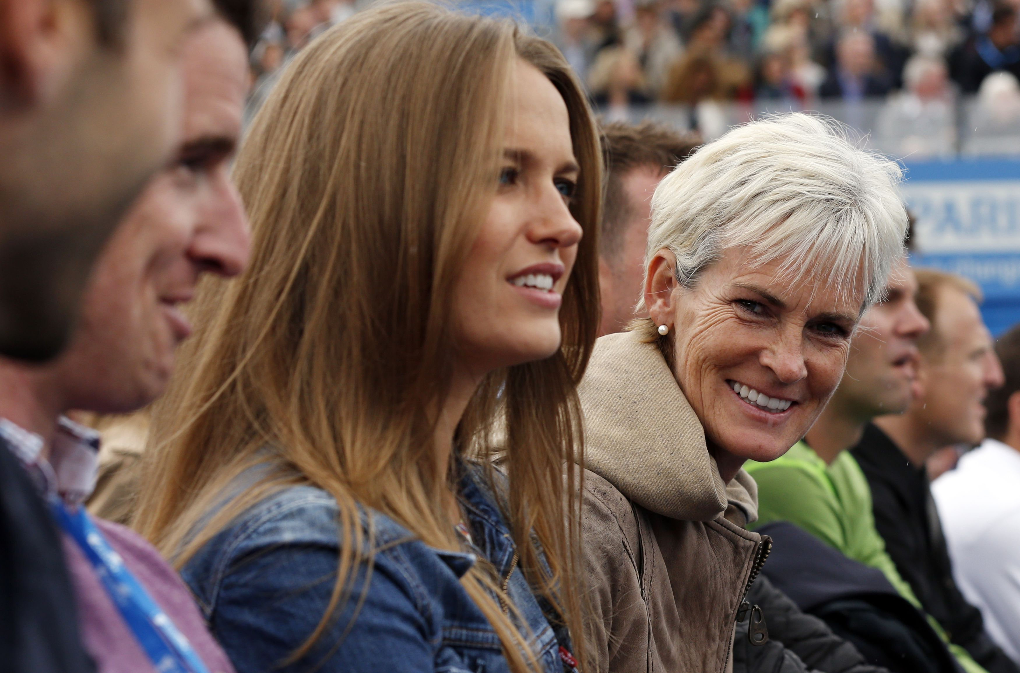 Kim Sears and Judy Murray and Queen's
