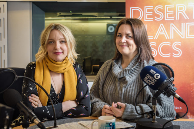 Ruth Jones and Lauren Laverne in the studio