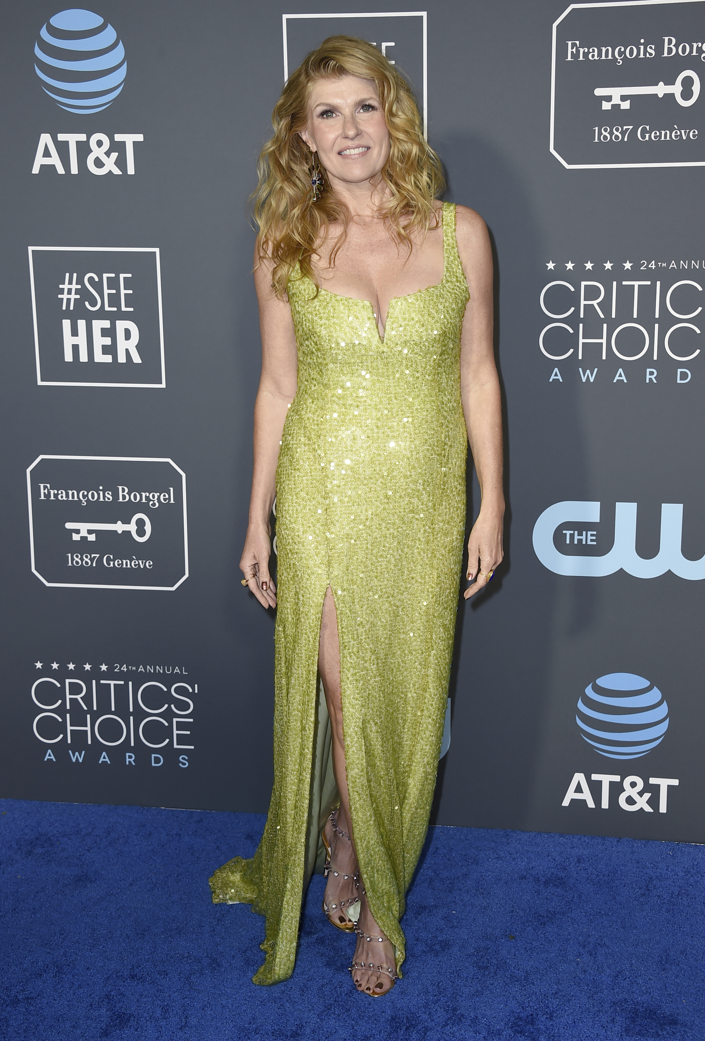 Connie Britton arrives at the 24th annual Critics' Choice Awards