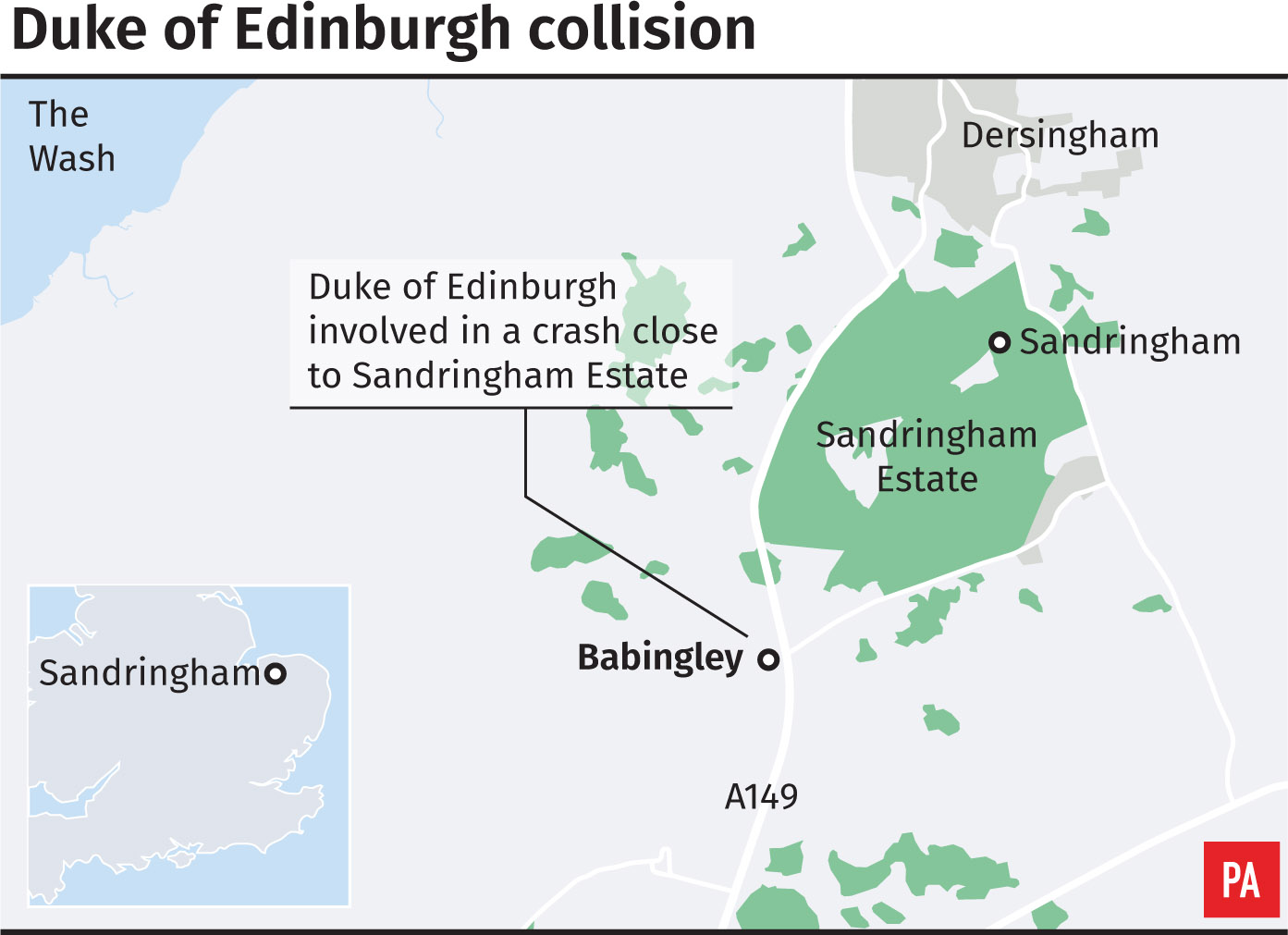 Locator of the Duke of Edinburgh's crash