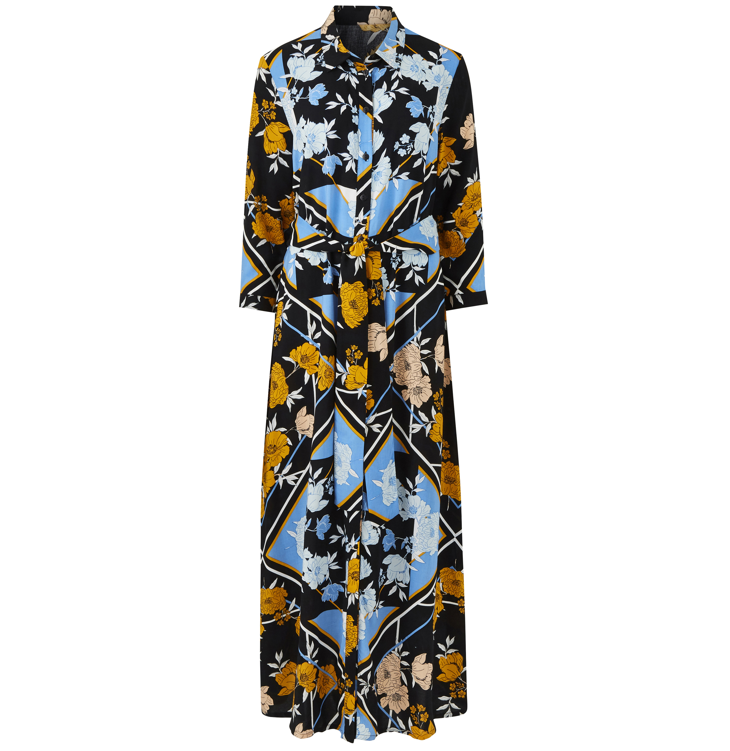 JD Williams Scarf Print Long Line Shirt Dress
