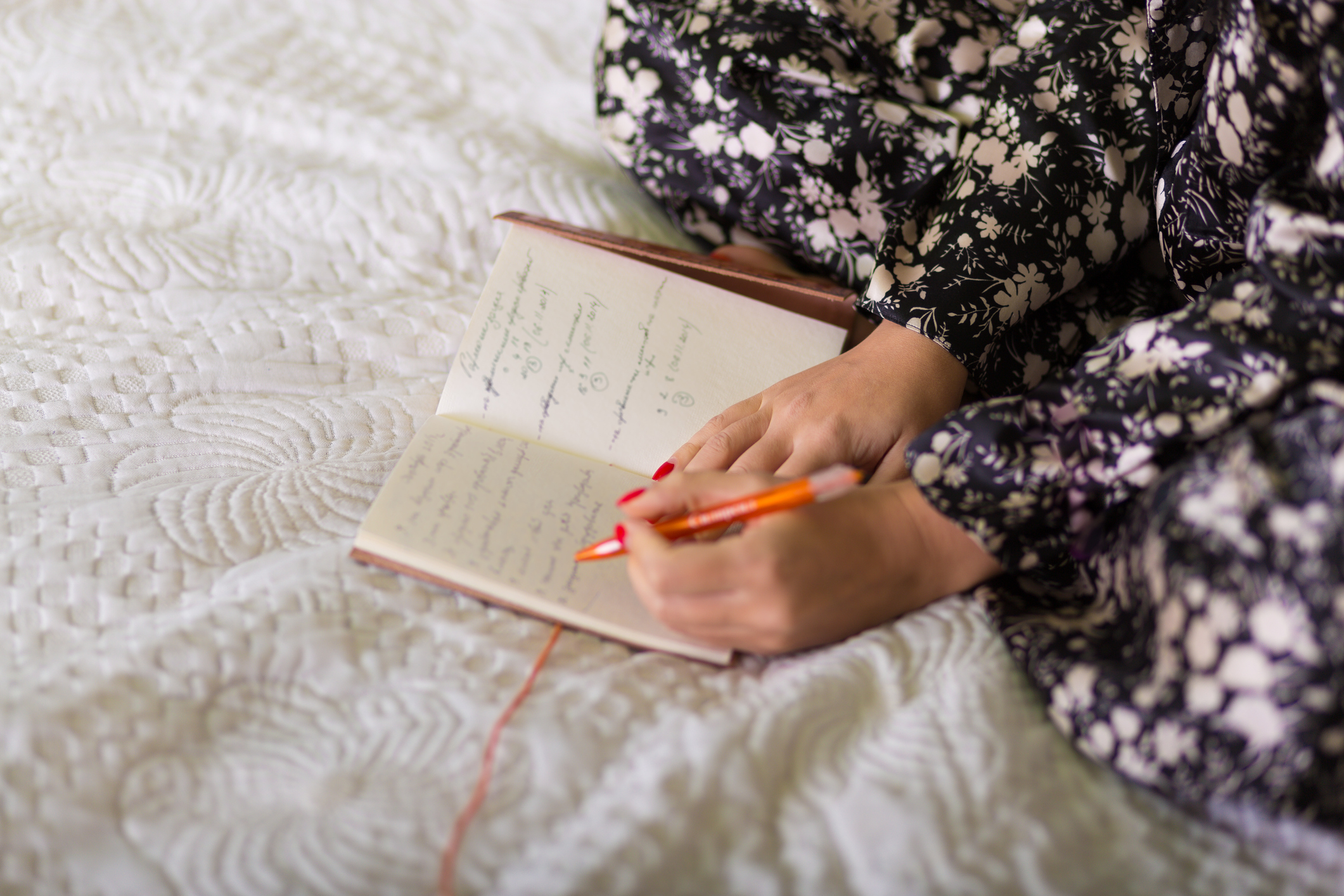 Woman with a diary