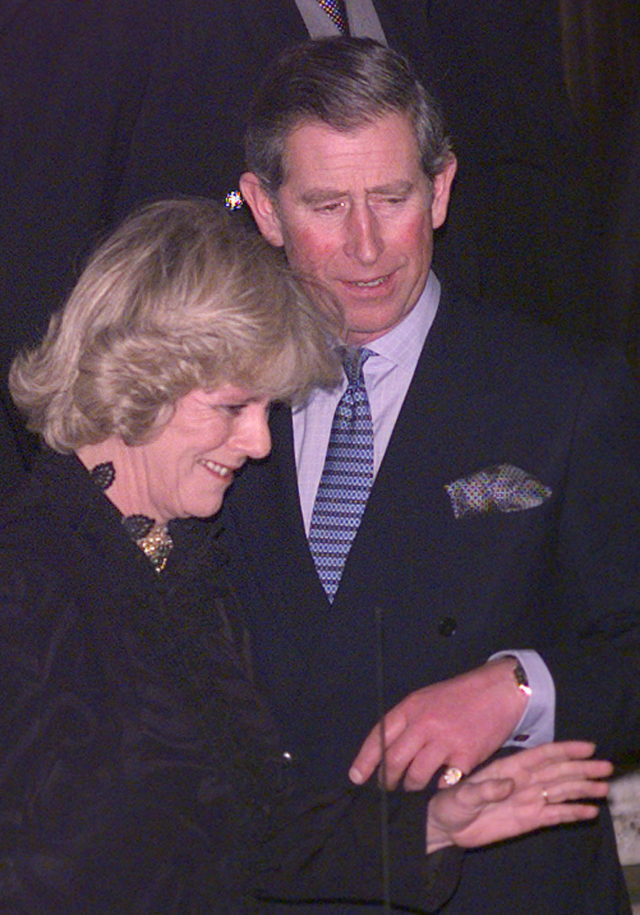 Charles and Camilla outside the Ritz