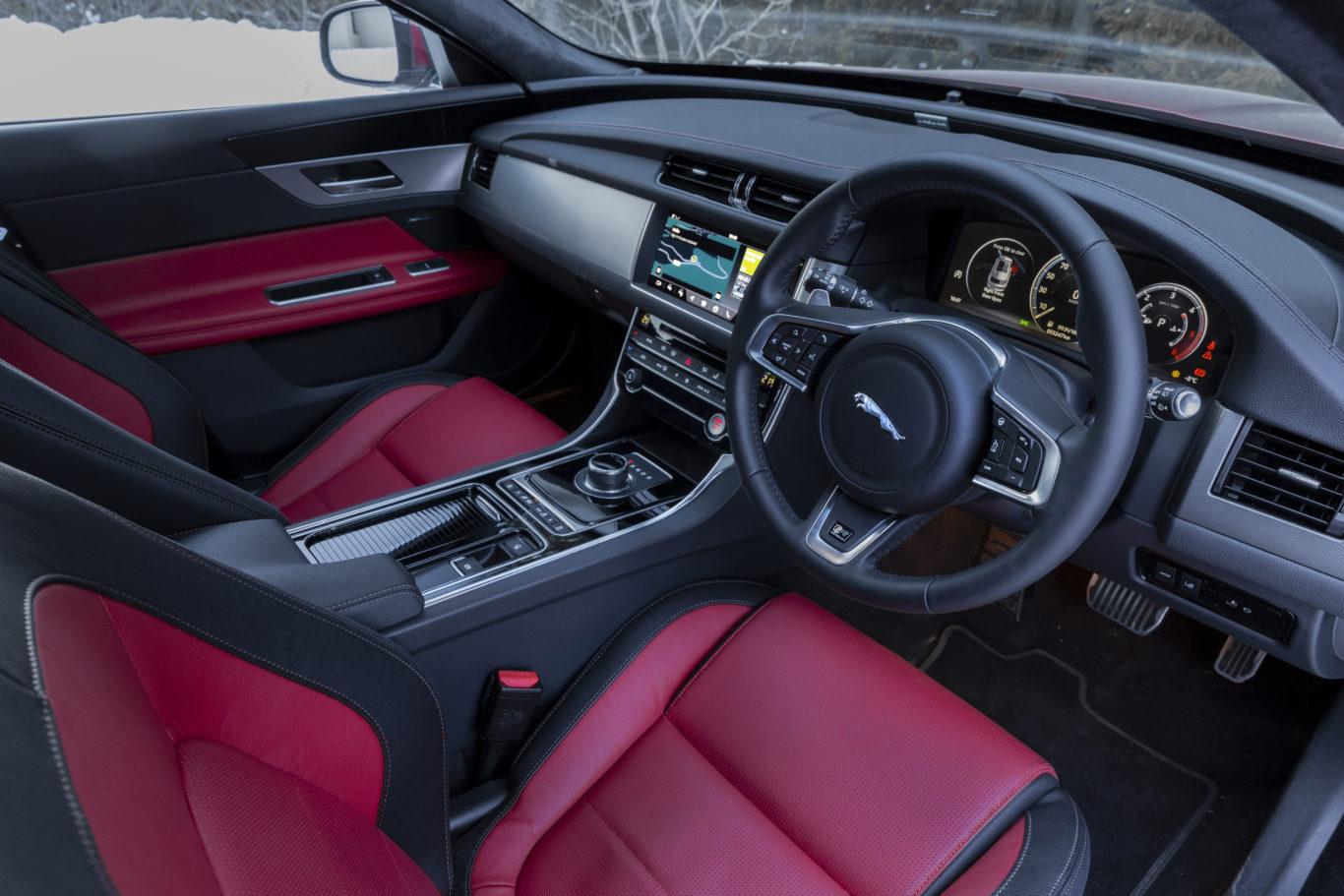 The Jaguar's interior looks and feels premium