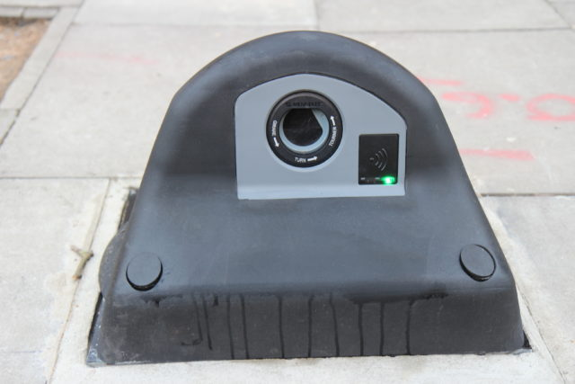 The armadillo charging units are made from recycled lorry tyres (Connected Kerb/PA)