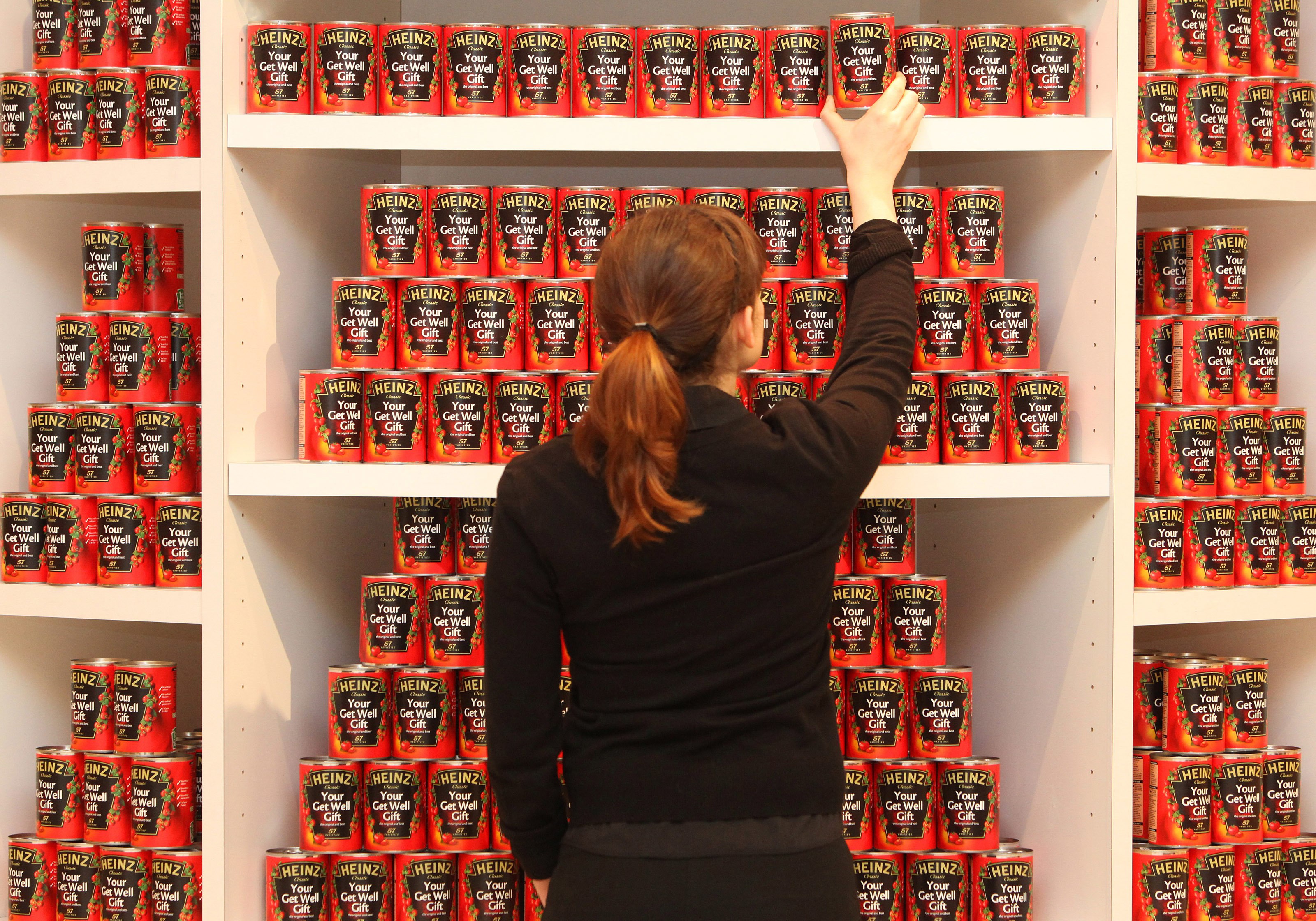 Shelves packed with Heinz