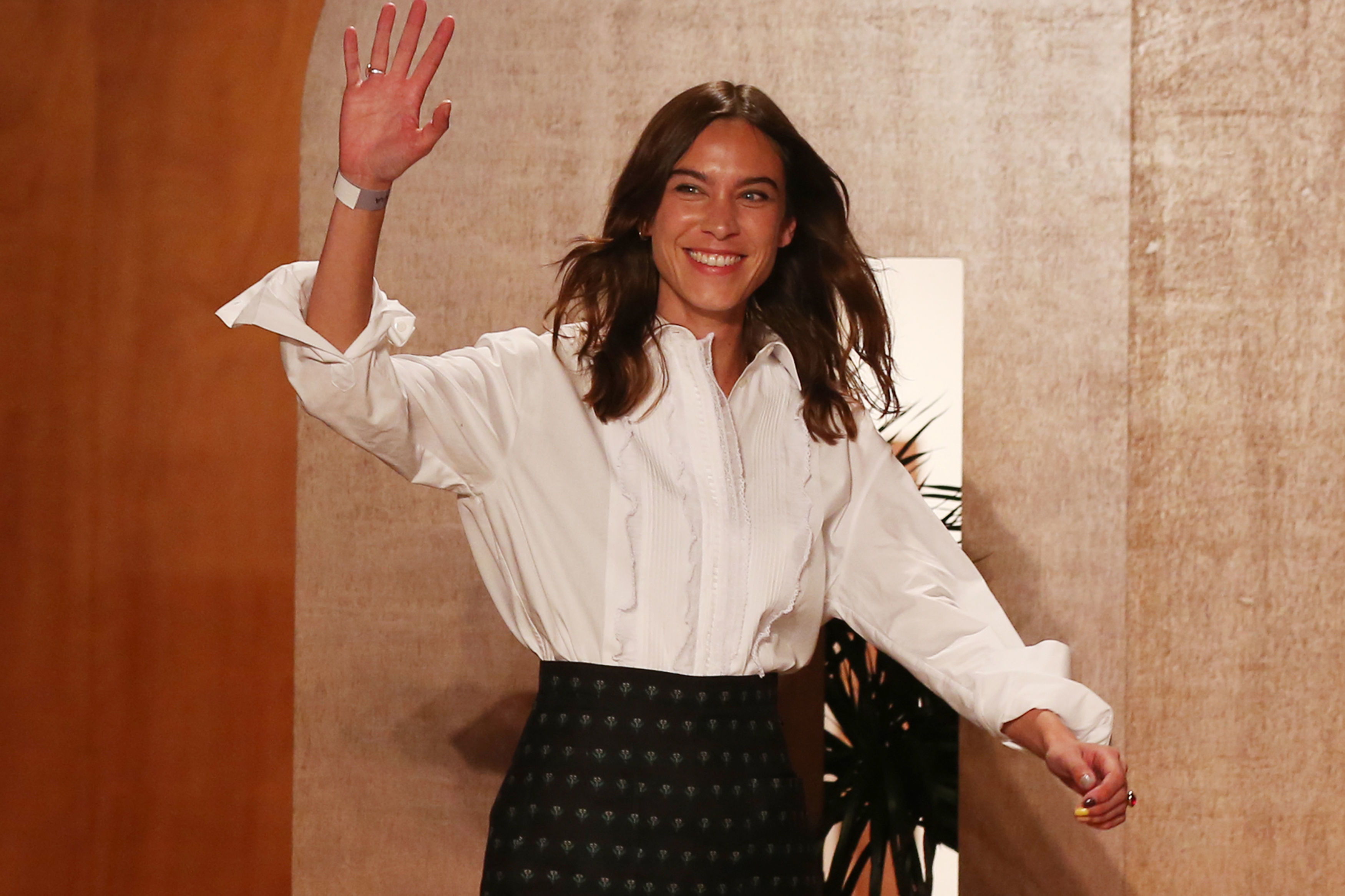 Alexa Chung after her LFW debut