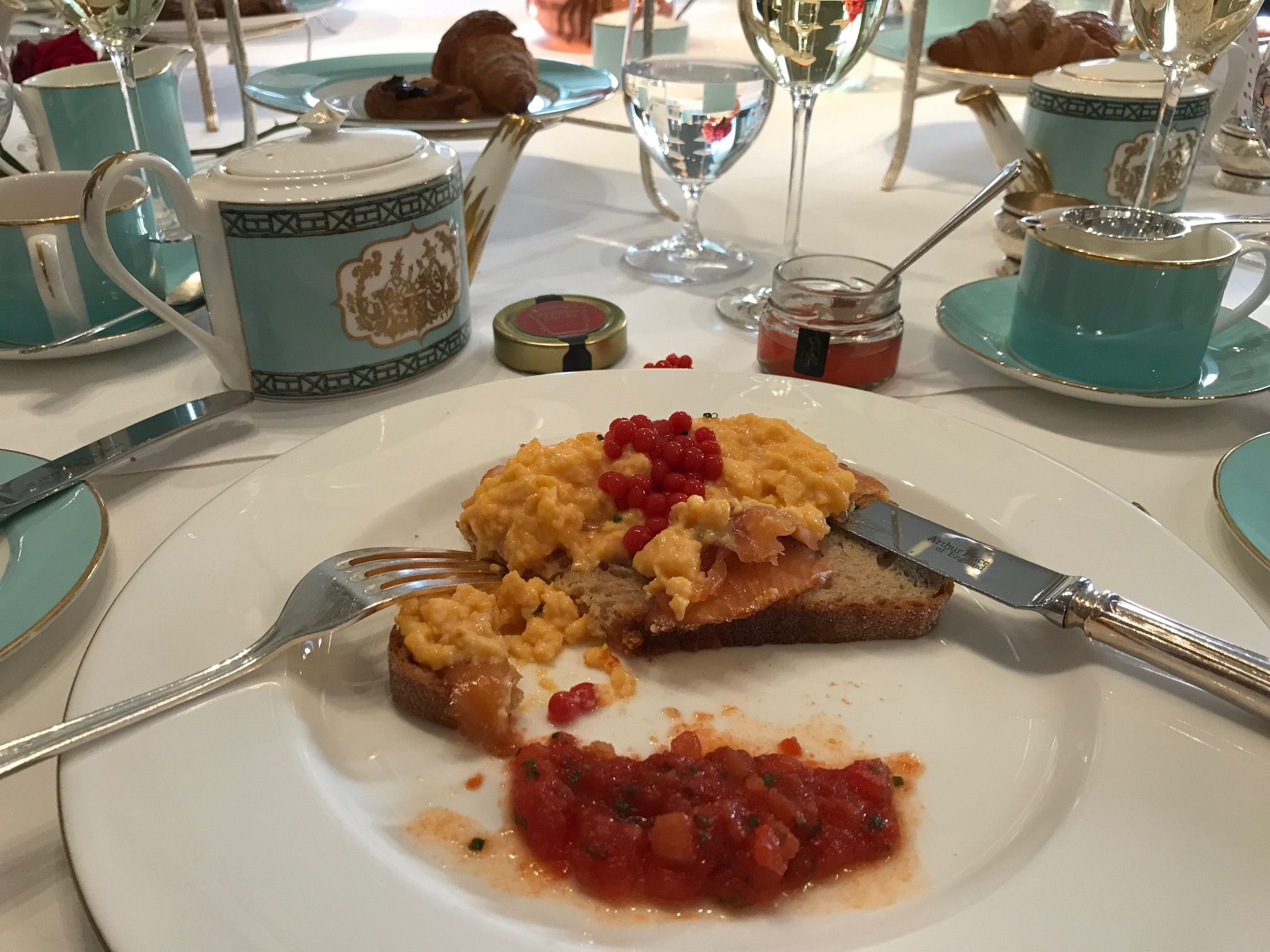 Fortnum's Rooftop Smoked Salmon & Scrambled Egg