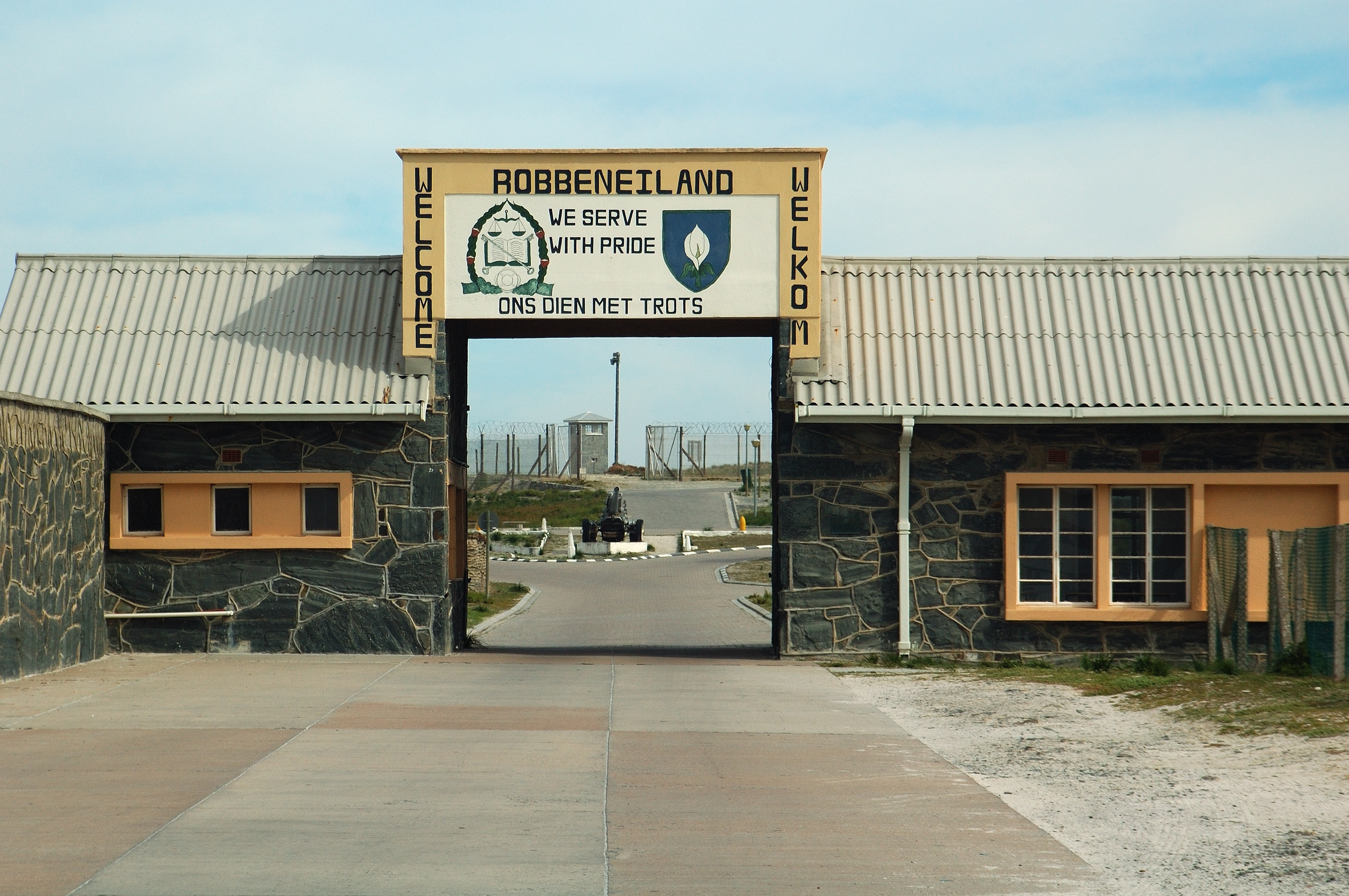 The entrance to Robben Island