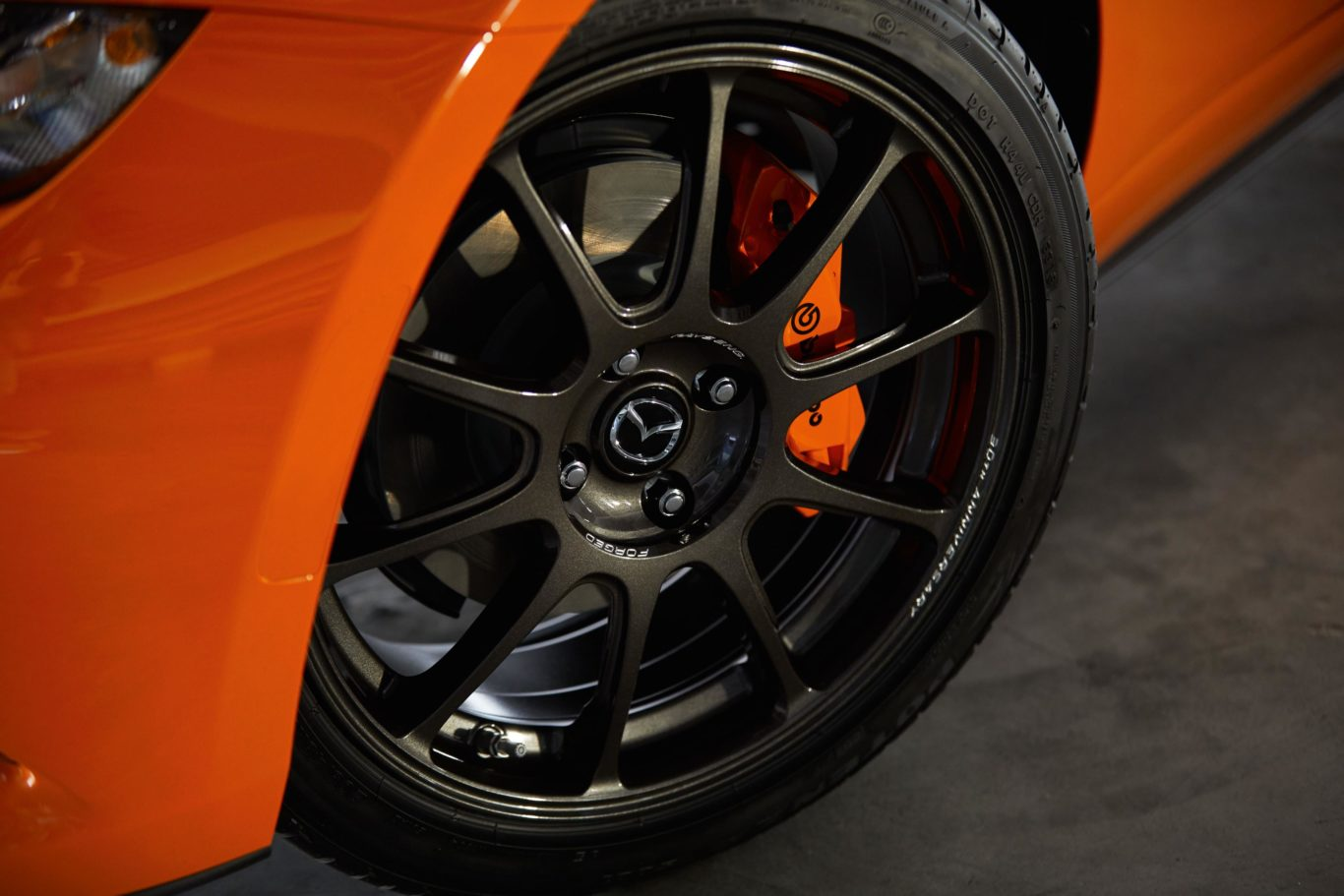 Special forged aluminium Rays wheels feature on the model