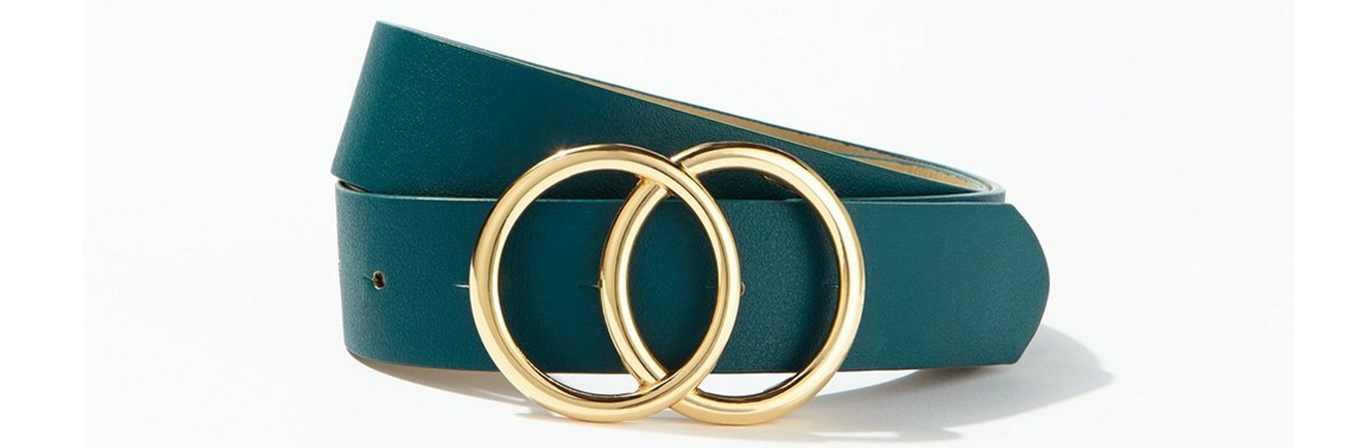 Miss Selfridge Green Circle Jeans Belt