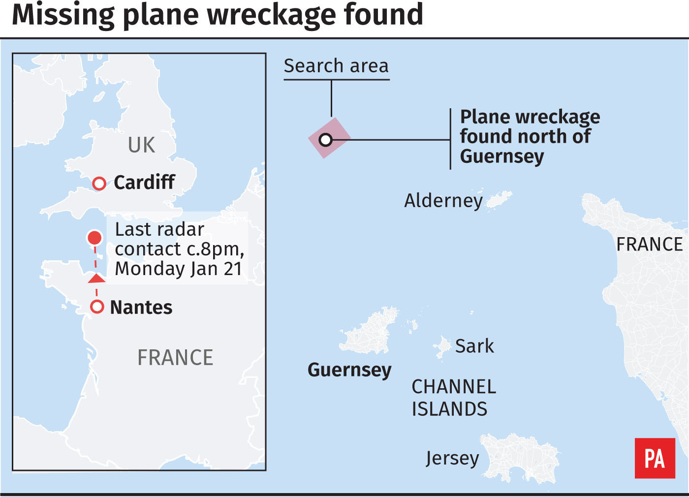 Missing plane wreckage found